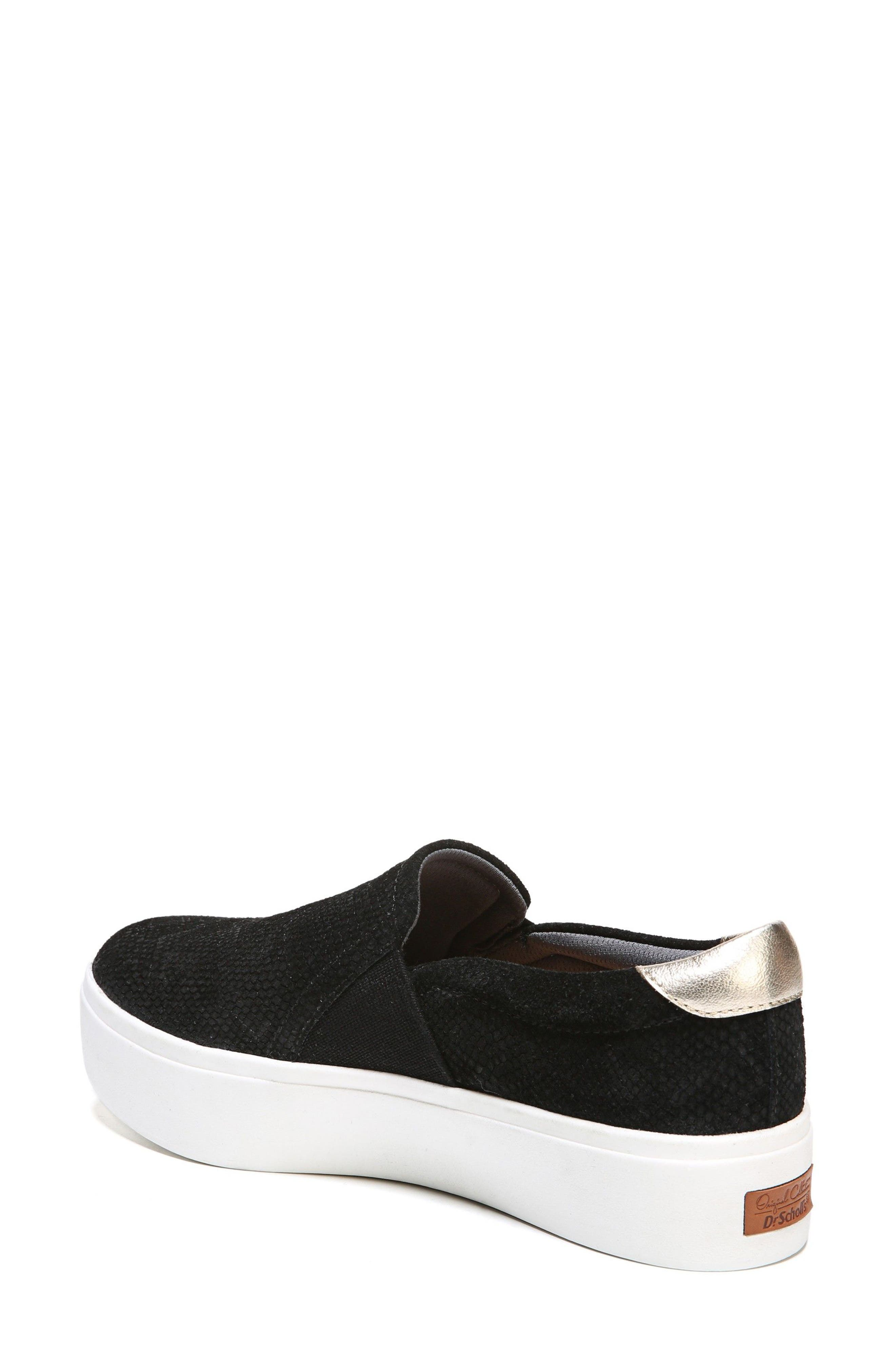 DR. SCHOLL'S, Abbot Slip-On Sneaker, Alternate thumbnail 2, color, BLACK SUEDE
