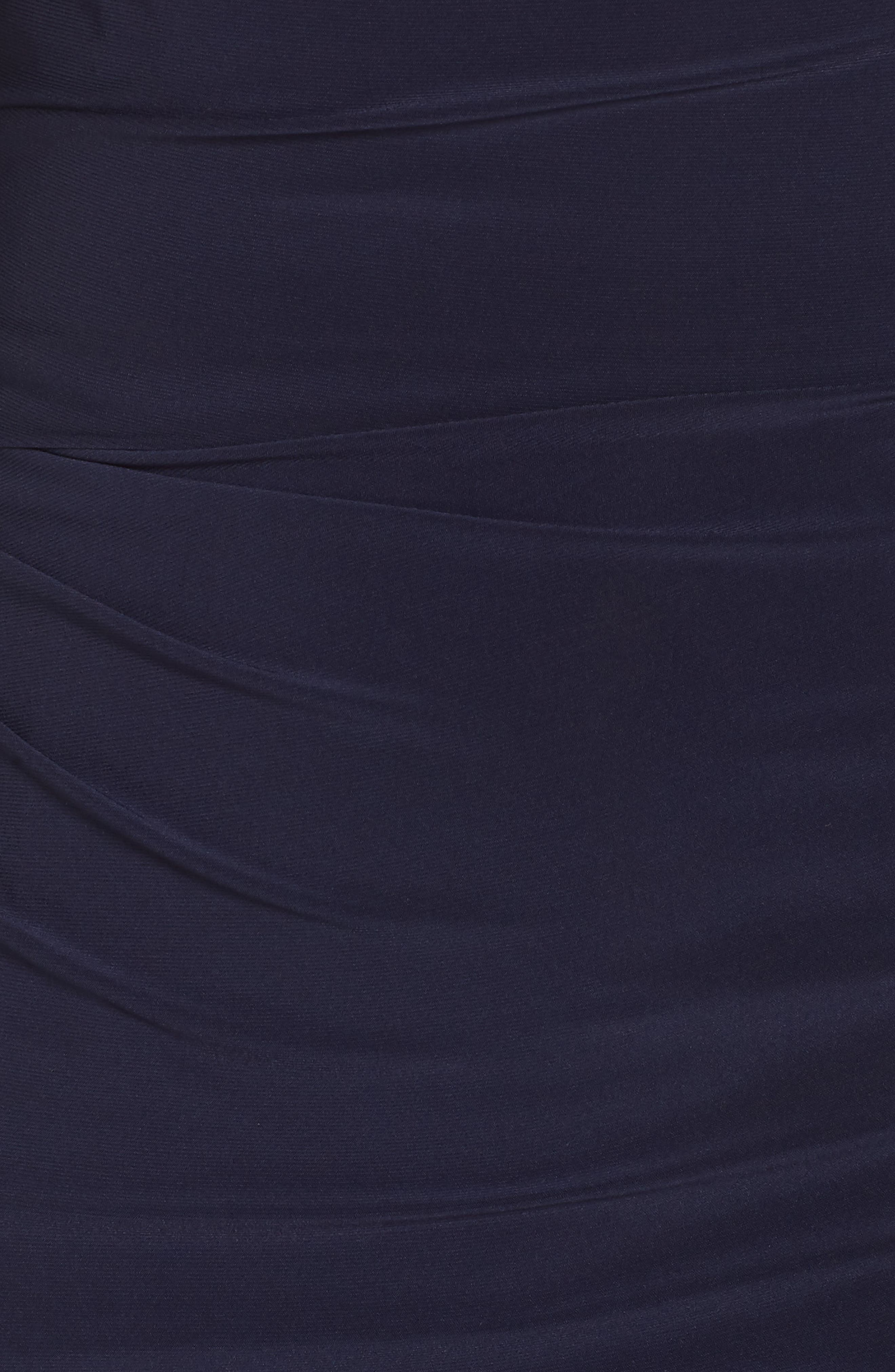 VINCE CAMUTO, Long Sleeve Bateau Neck Cocktail Dress, Alternate thumbnail 6, color, NAVY