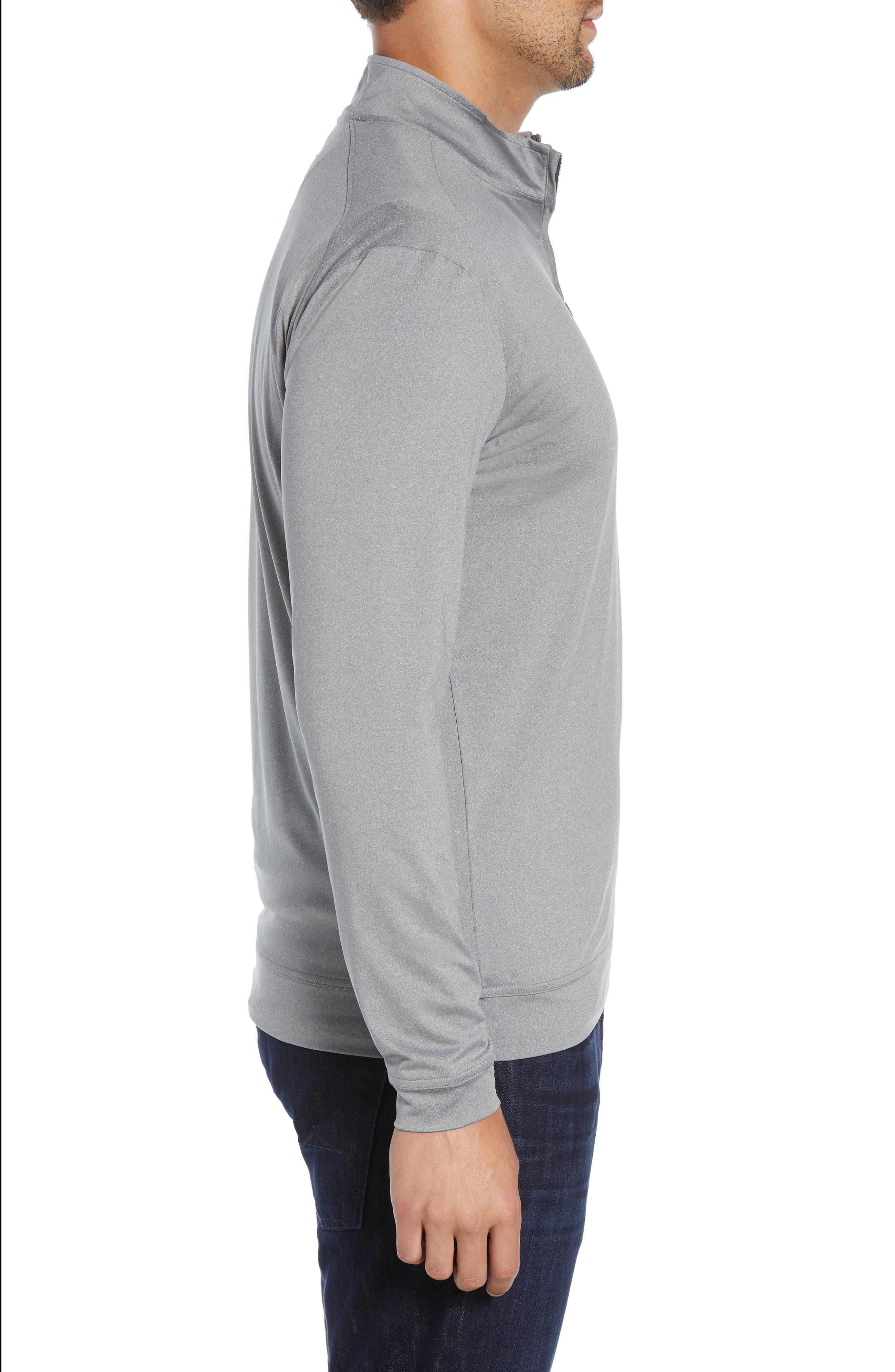 JOHNNIE-O, Flex Classic Fit Quarter Zip Pullover, Alternate thumbnail 3, color, METEOR