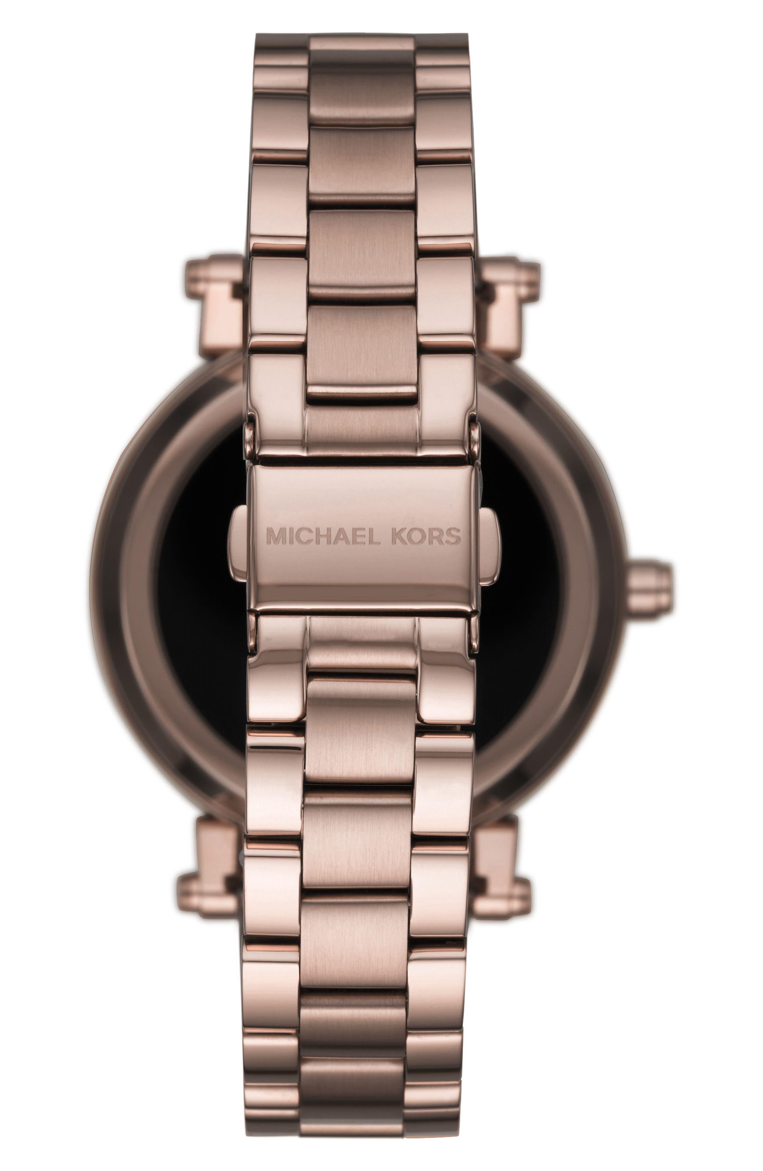 MICHAEL KORS ACCESS, Sofie Smart Bracelet Watch, 42mm, Alternate thumbnail 2, color, SABLE
