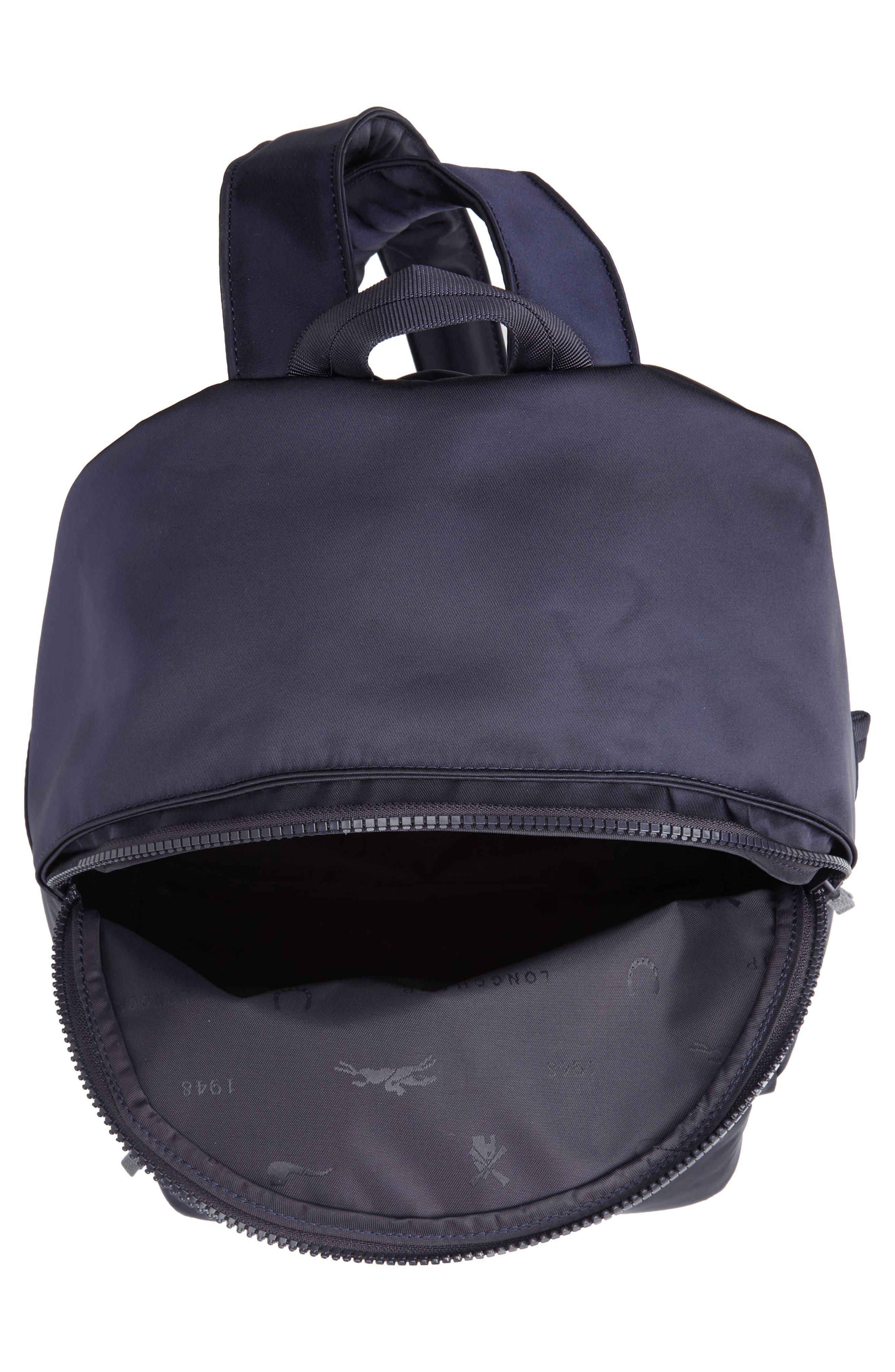 LONGCHAMP, 'Le Pliage Neo' Nylon Backpack, Alternate thumbnail 5, color, NAVY BLUE