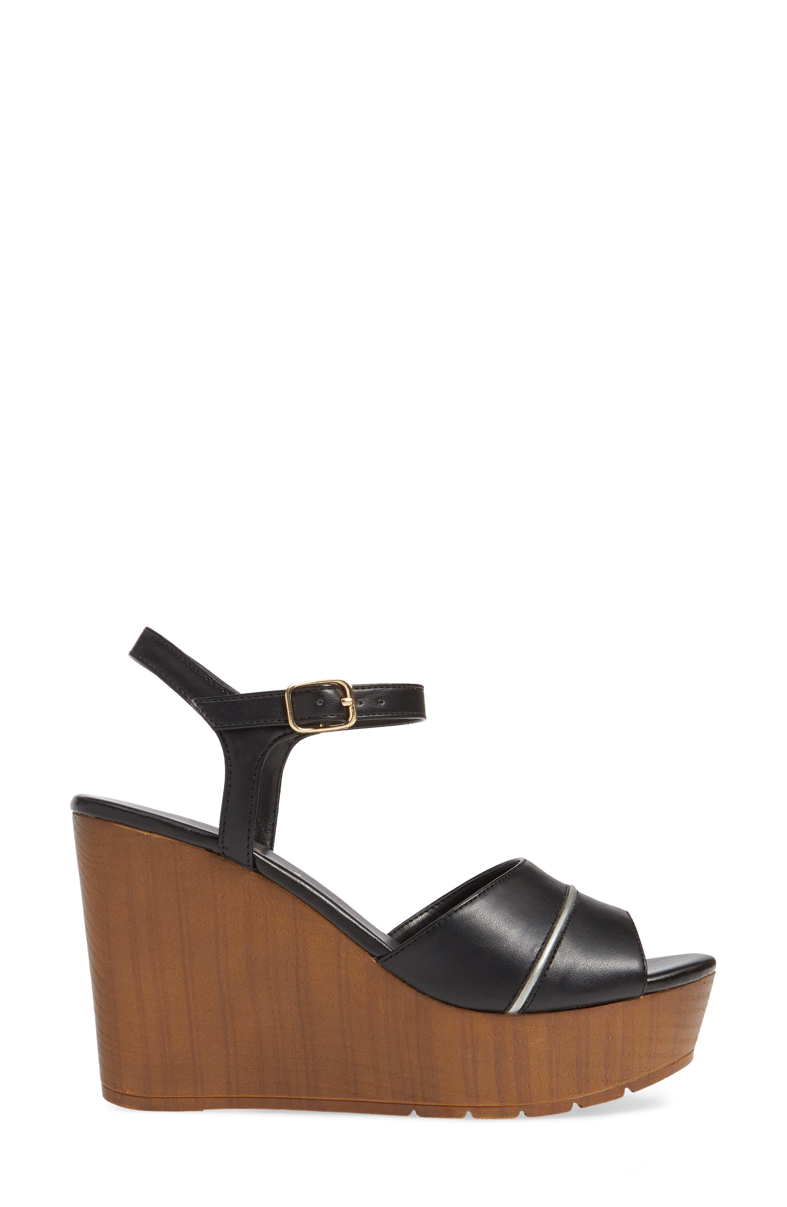 CALLISTO, Masalla Platform Wedge Sandal, Alternate thumbnail 3, color, BLACK FAUX LEATHER