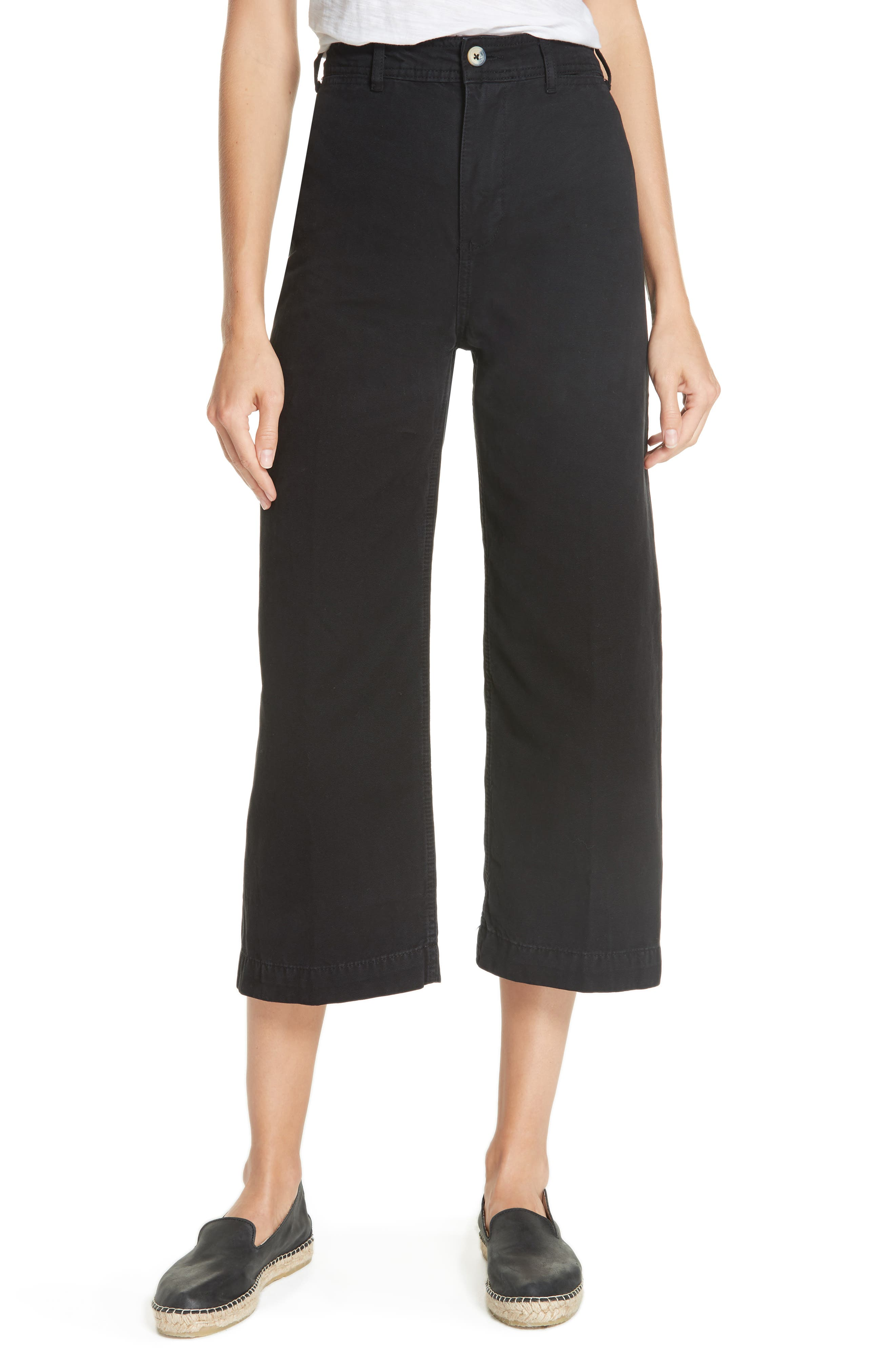 FREE PEOPLE, We the Free by Free People Patti Crop Cotton Pants, Main thumbnail 1, color, 001