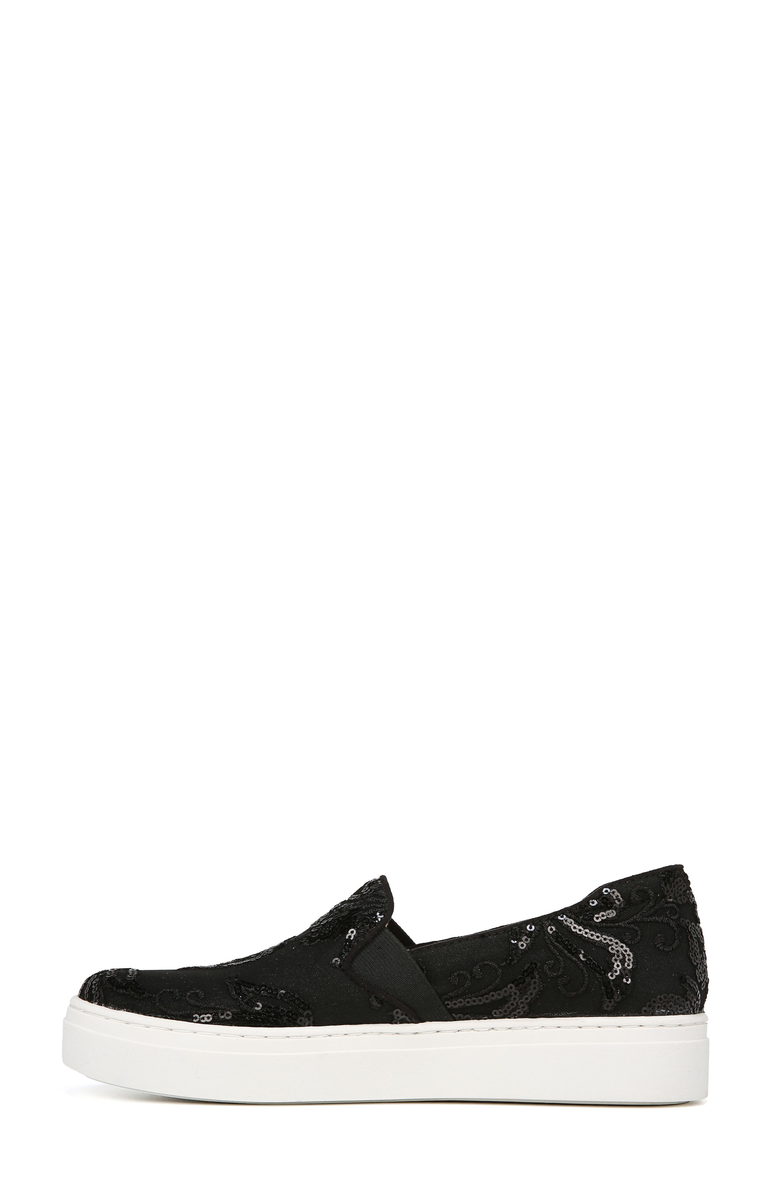 NATURALIZER, Carly Slip-On Sneaker, Alternate thumbnail 7, color, BLACK EMBROIDERED LACE