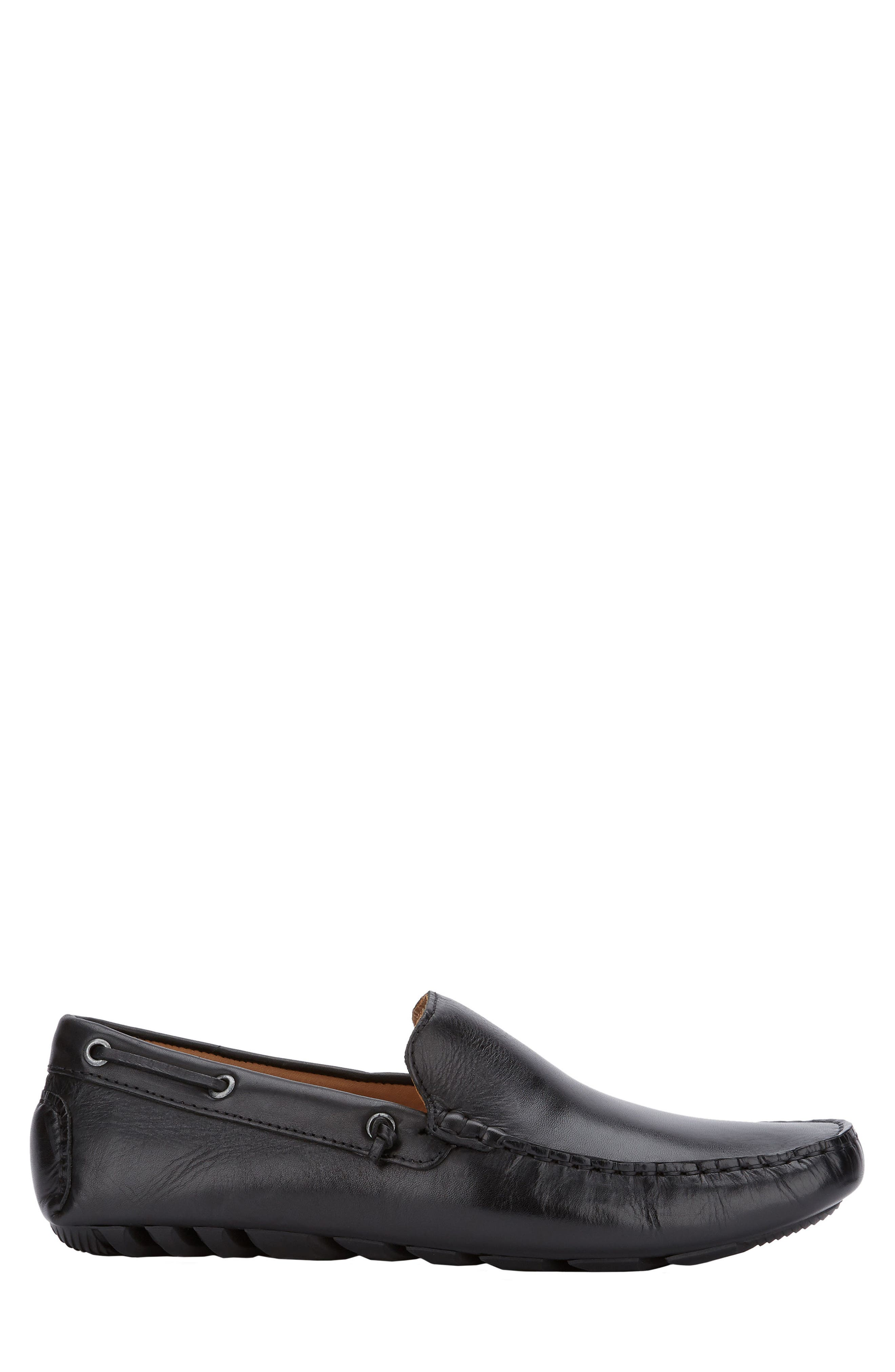 G.H. BASS & CO., Walter Driving Shoe, Alternate thumbnail 6, color, BLACK