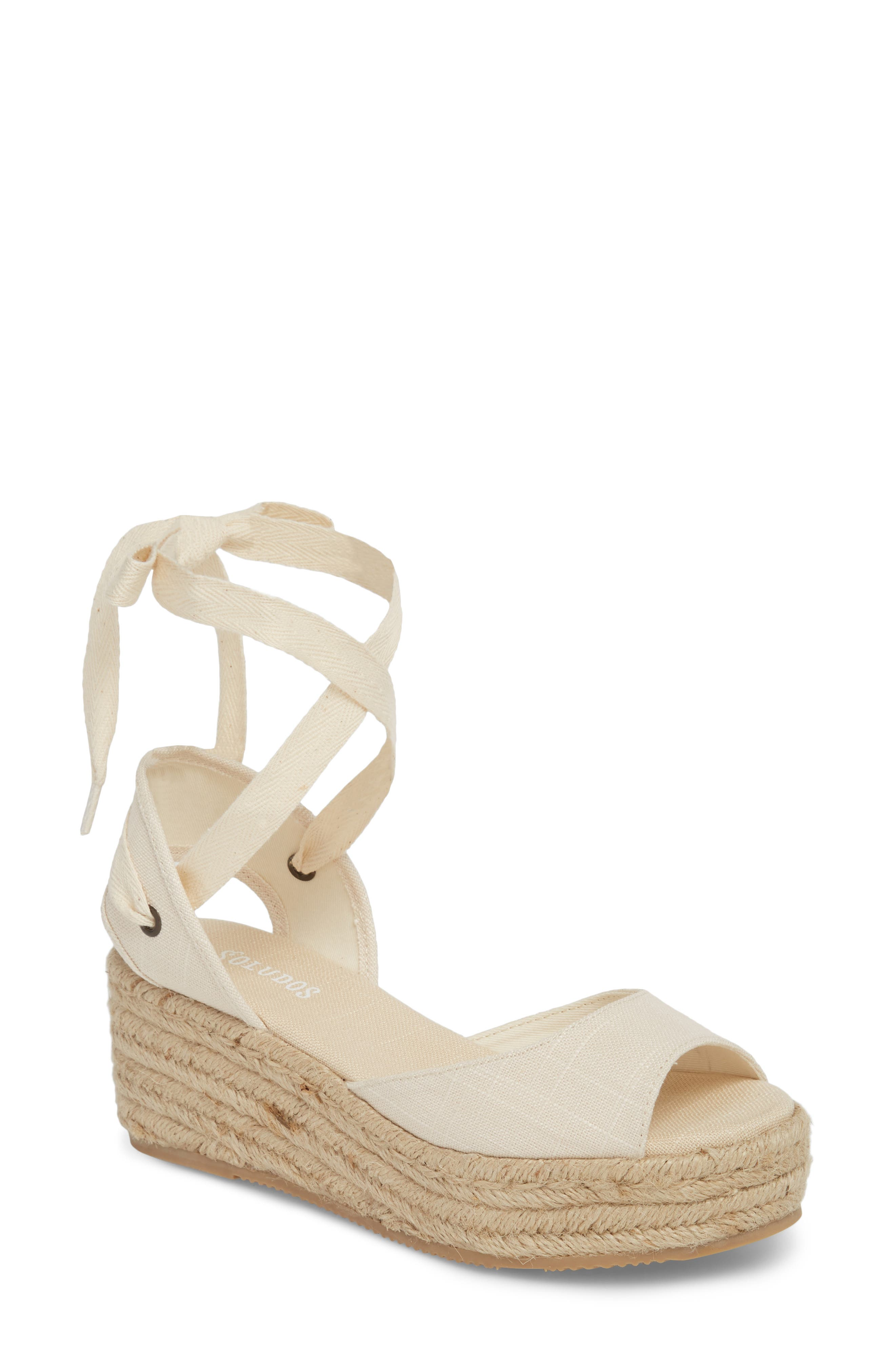 SOLUDOS, Espadrille Platform Sandal, Main thumbnail 1, color, BLUSH FABRIC