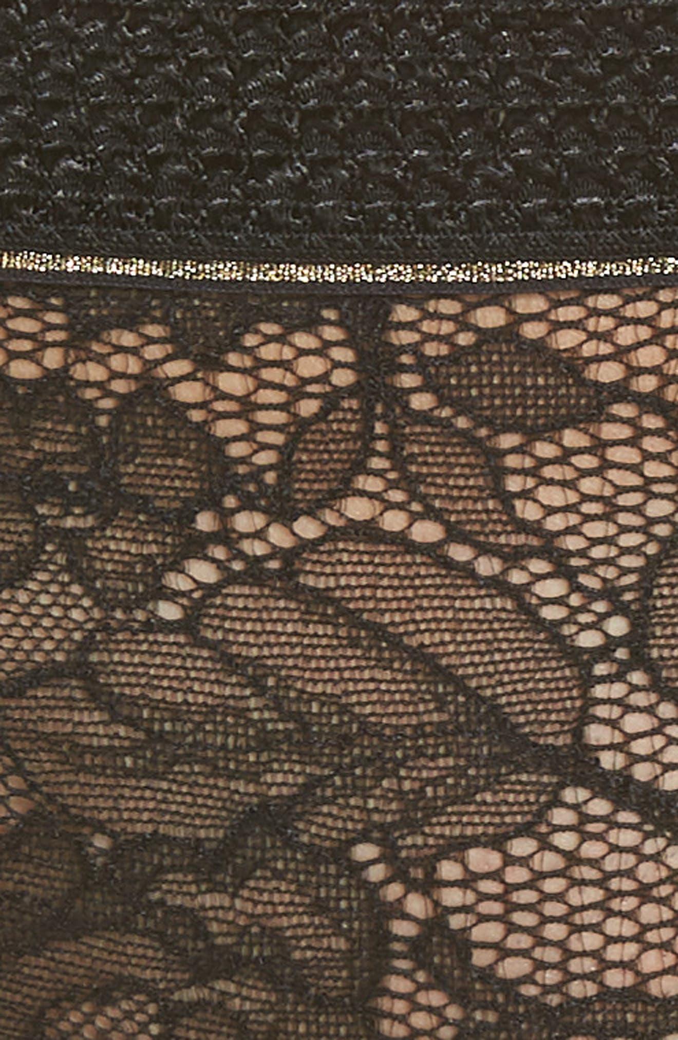 SIMONE PERELE, Afterwork Bikini, Alternate thumbnail 5, color, BLACK