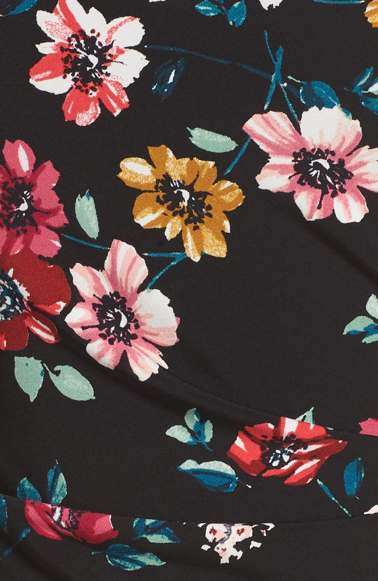 ELIZA J, Floral Sheath Dress, Alternate thumbnail 6, color, 001