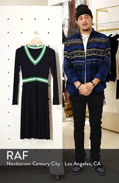 Stripe Trim Sweater Dress, sales video thumbnail