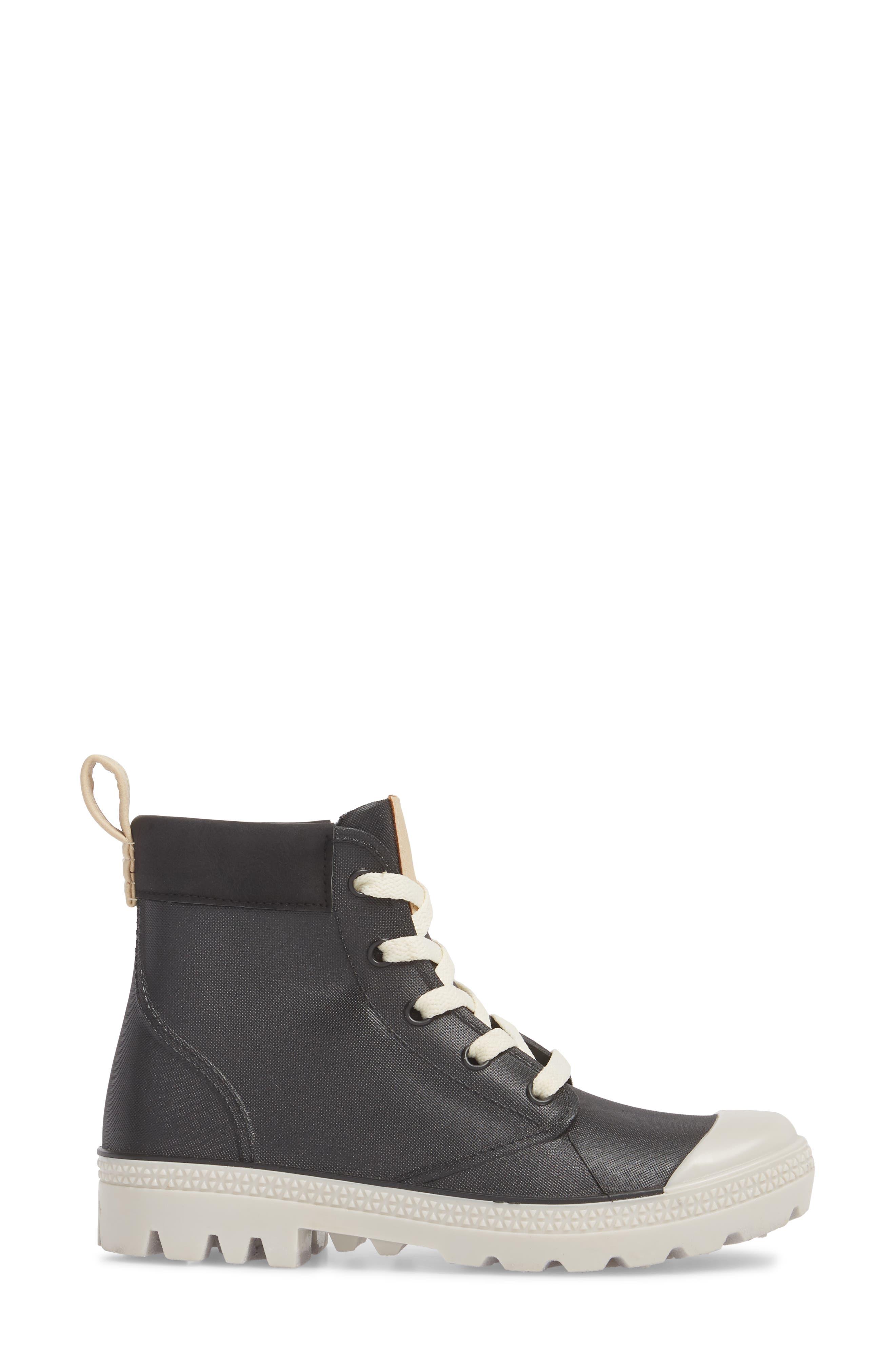 DÄV, Melrose Waterproof Sneaker Boot, Alternate thumbnail 3, color, 001