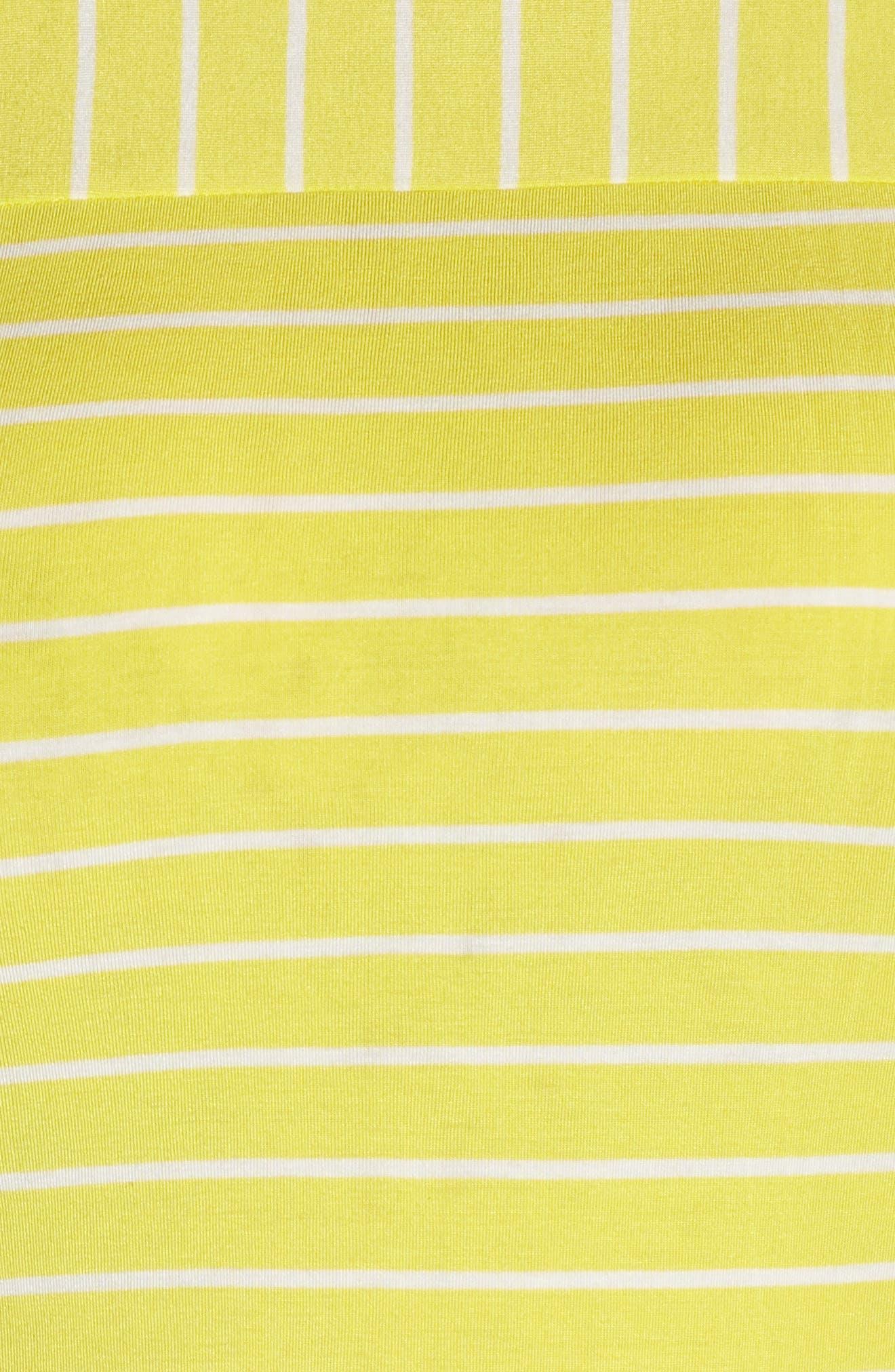 SEJOUR, Stripe Long Sleeve Tee, Alternate thumbnail 5, color, YELLOW ANYA STRIPE