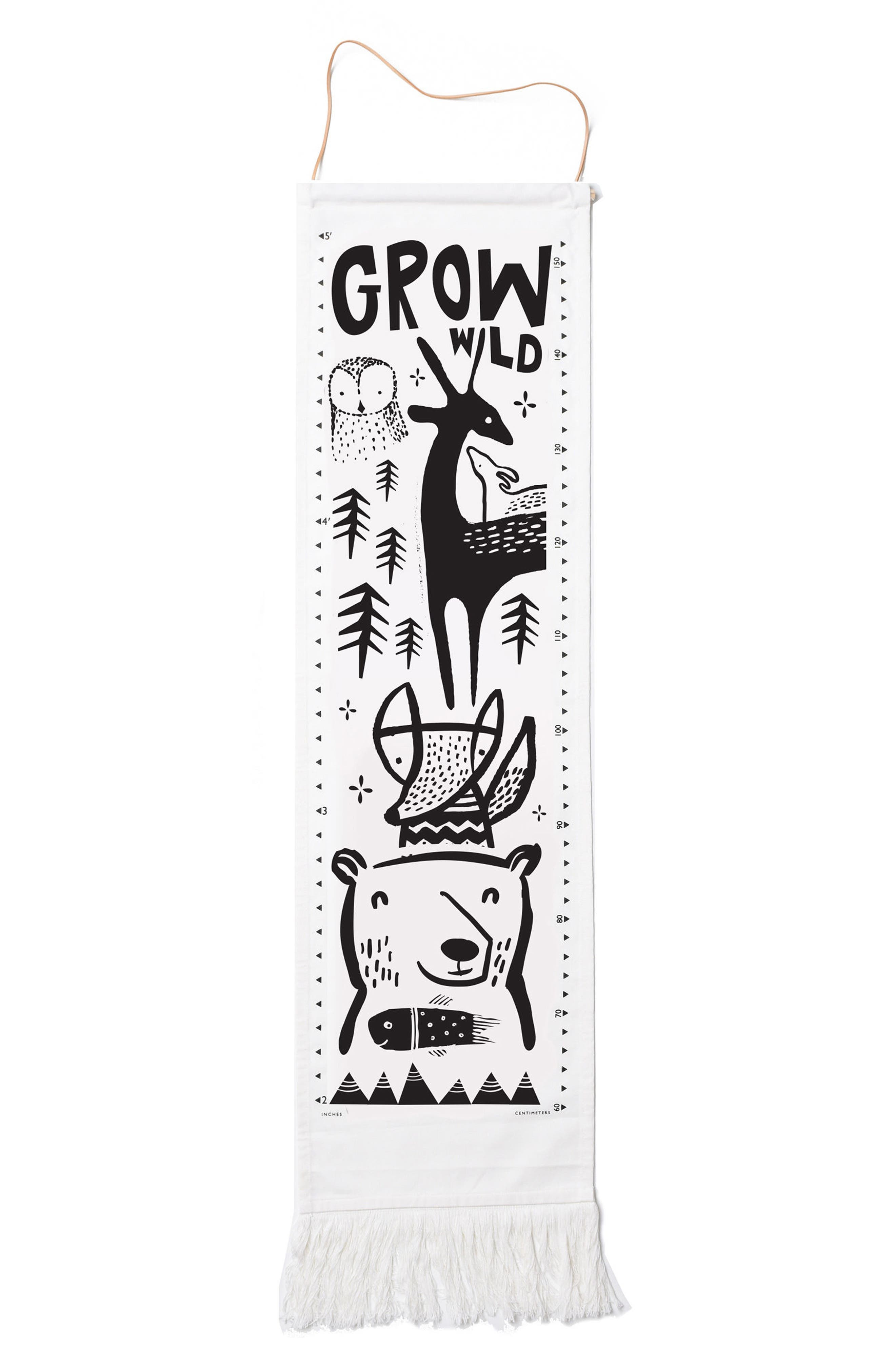 WEE GALLERY Growth Chart, Main, color, WOODLAND