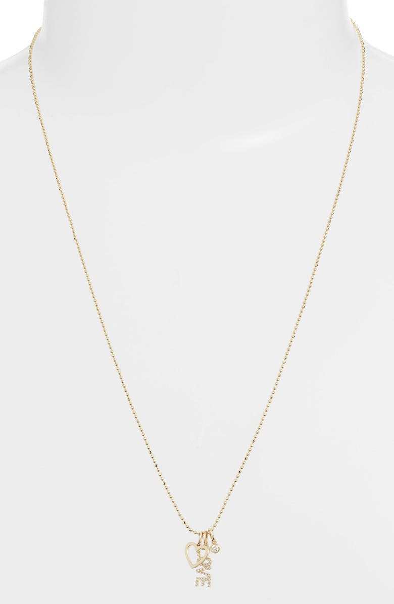 Ef Collection Accessories DIAMOND LOVE CHARM NECKLACE
