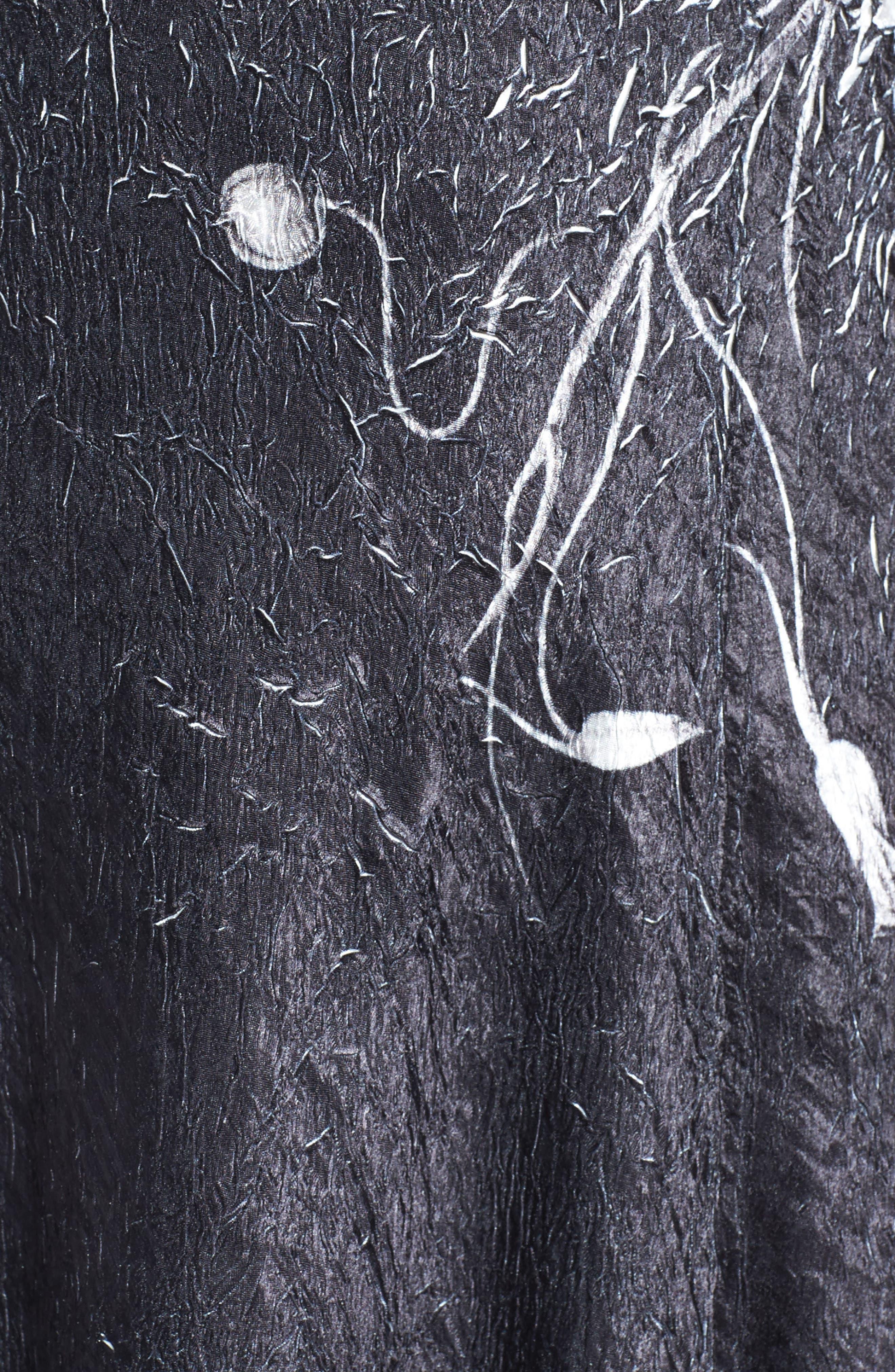KOMAROV, Lace-Up Back Maxi Dress with Wrap, Alternate thumbnail 7, color, 001
