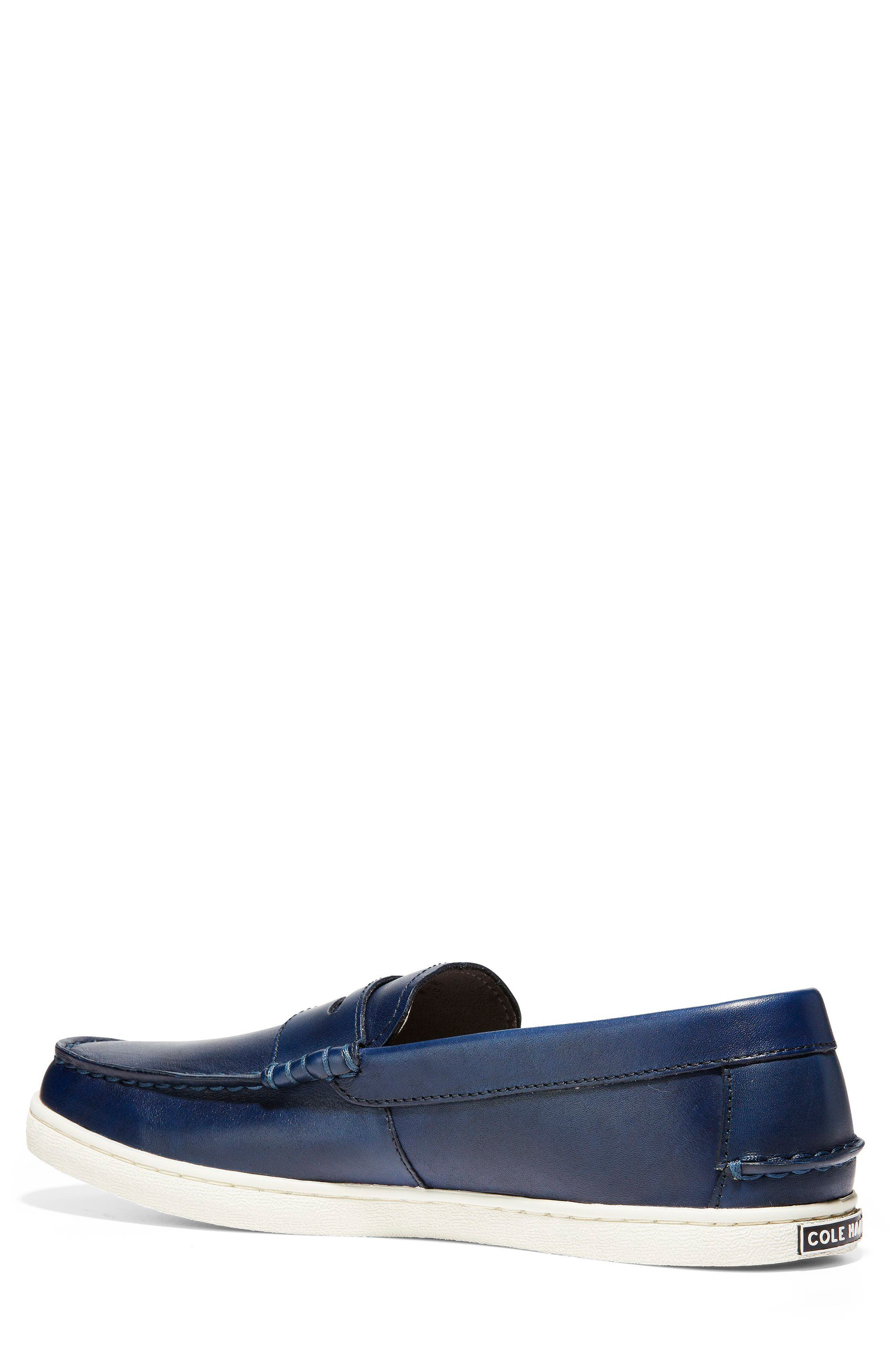 COLE HAAN, Pinch Penny Loafer, Alternate thumbnail 2, color, BLAZER BLUE LEATHER