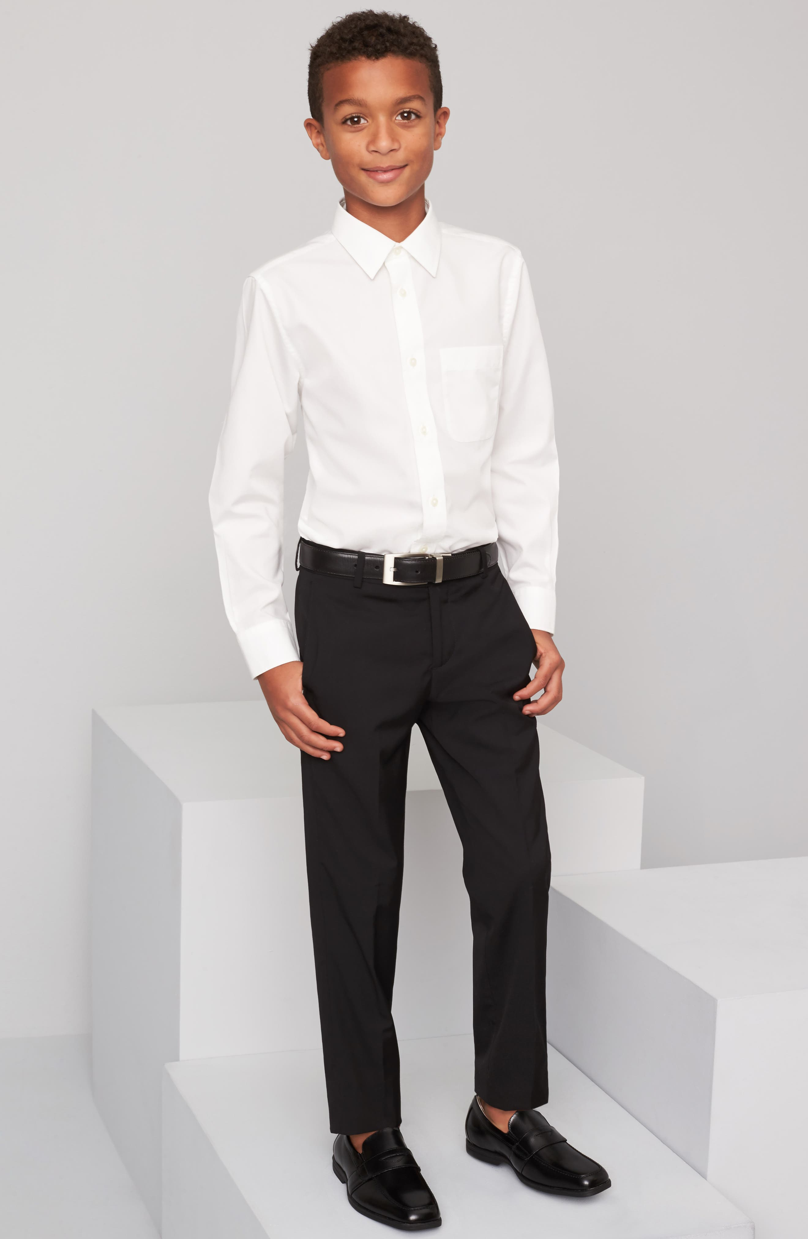 NORDSTROM, Smartcare<sup>™</sup> Dress Shirt, Alternate thumbnail 9, color, WHITE