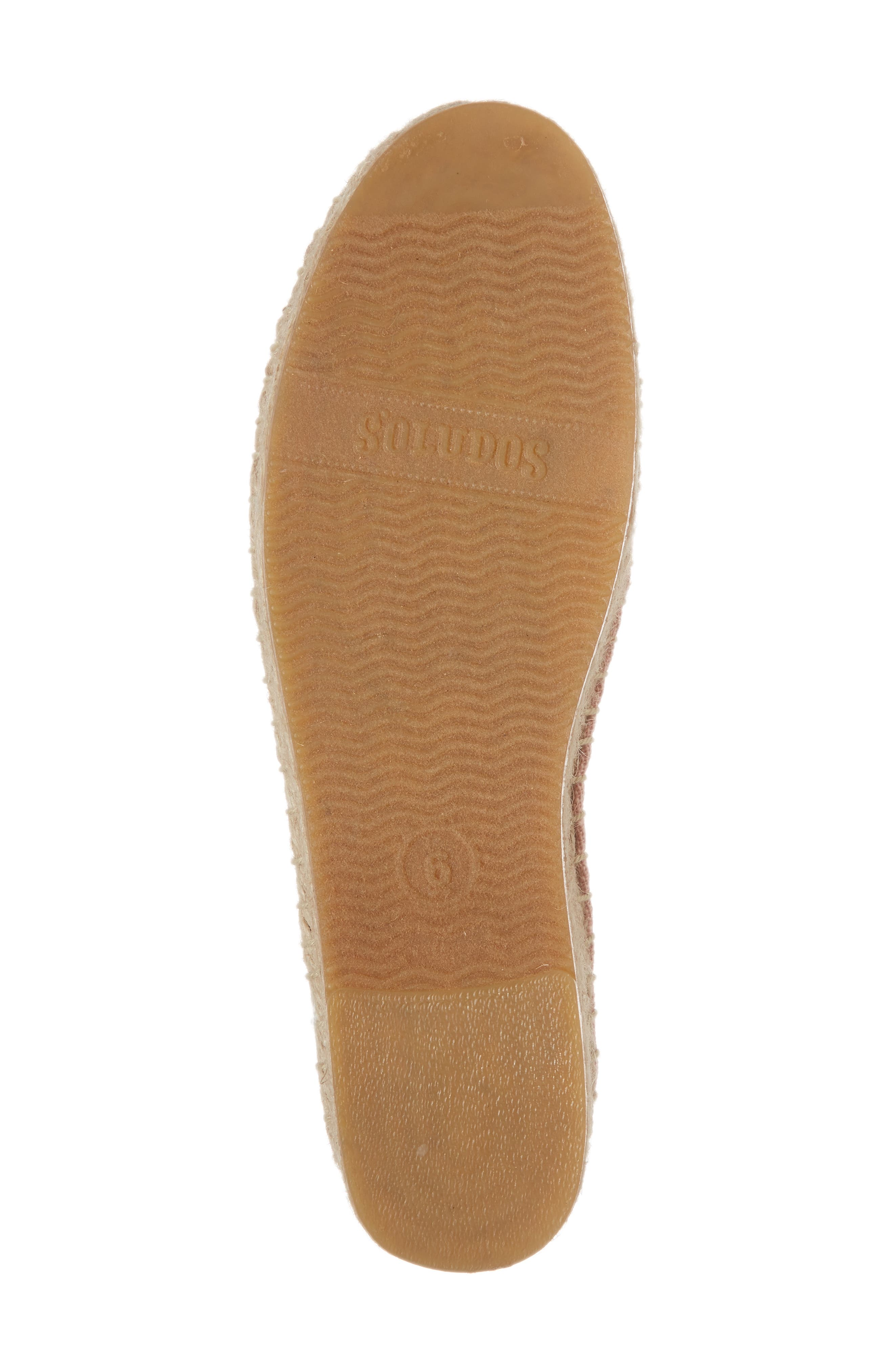 SOLUDOS, Ciao Bella Espadrille Flat, Alternate thumbnail 6, color, DUSTY ROSE FABRIC