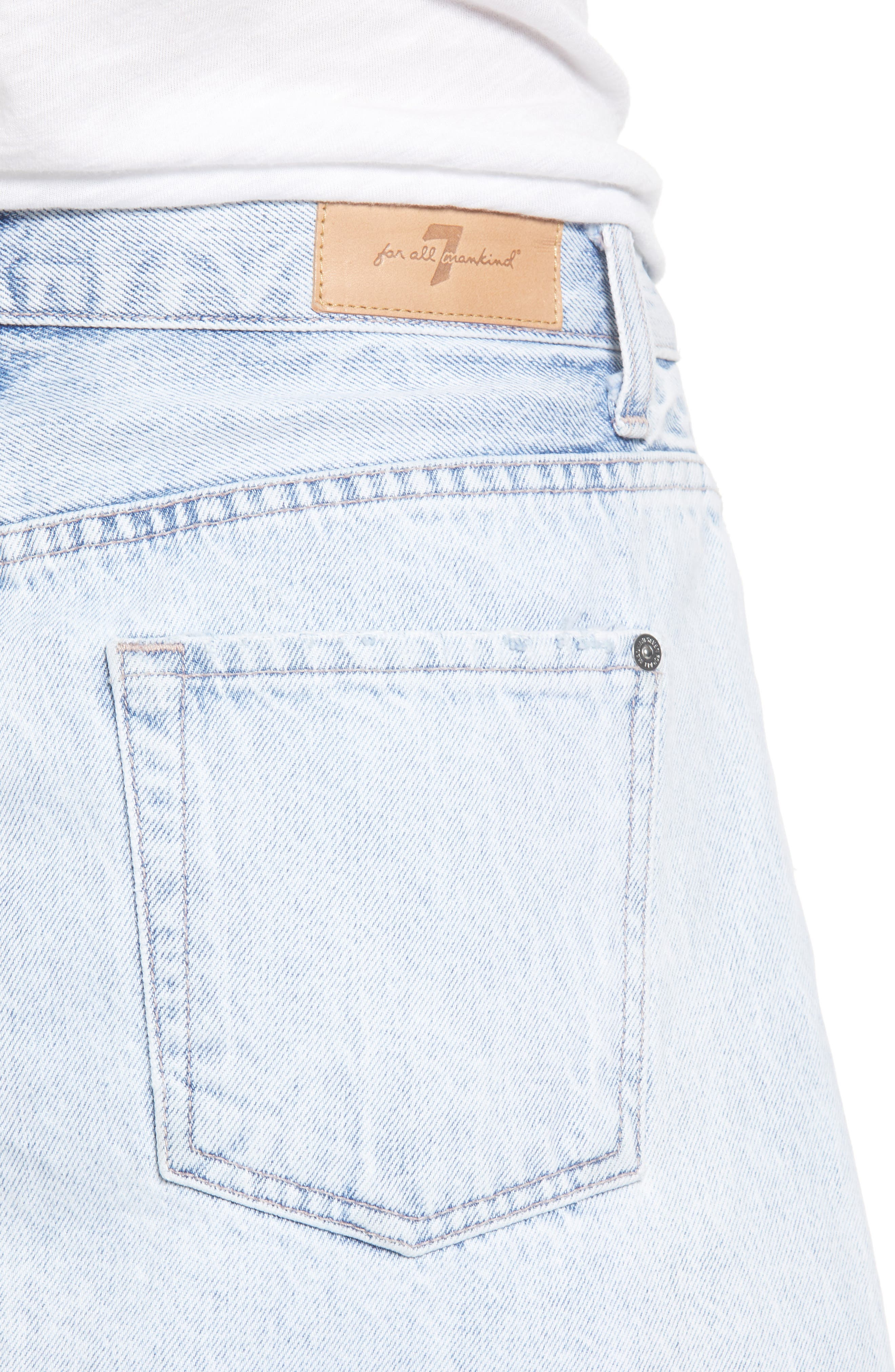 7 FOR ALL MANKIND<SUP>®</SUP>, Miniskirt, Alternate thumbnail 5, color, CLOUD BLUE