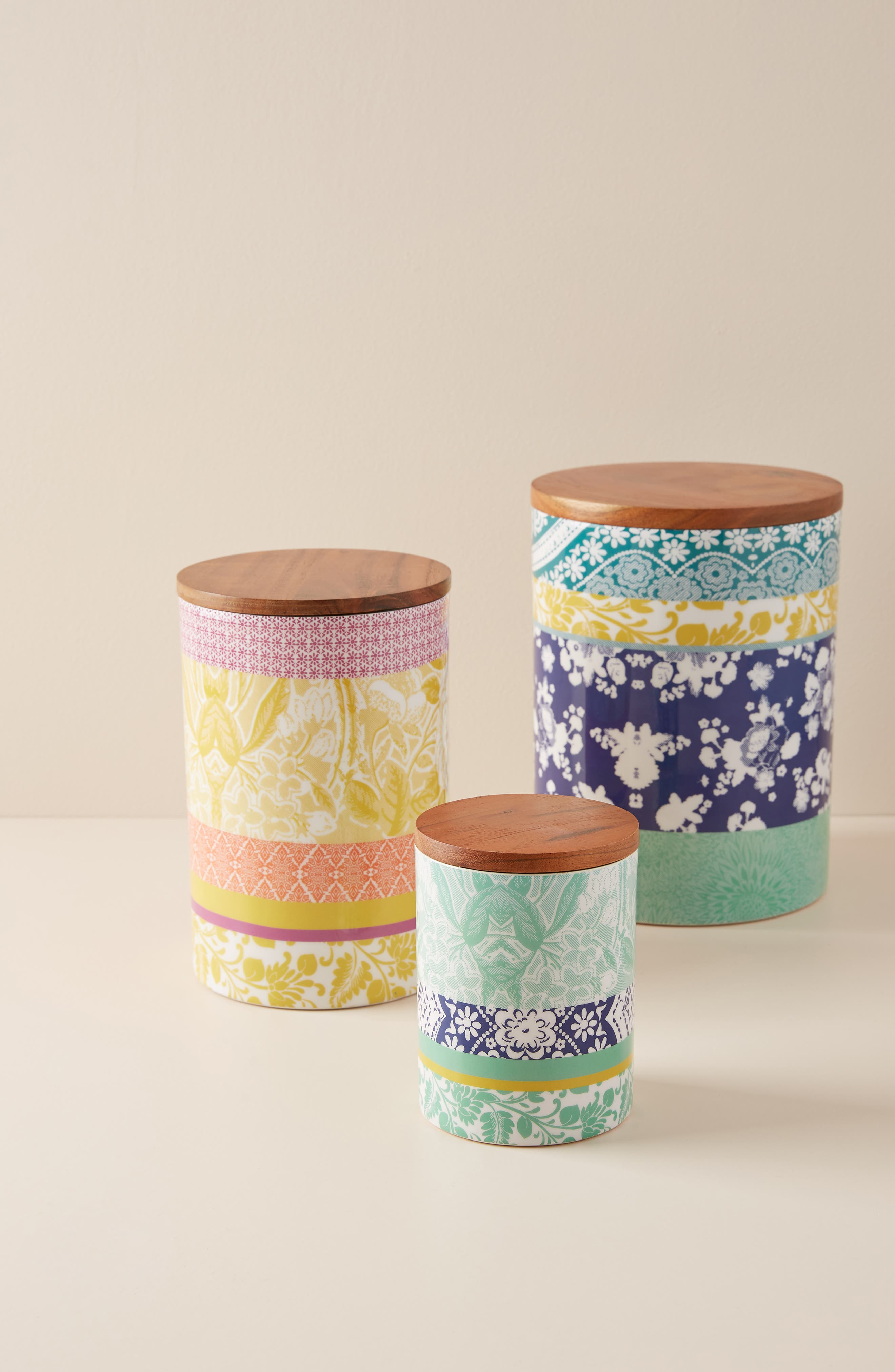 ANTHROPOLOGIE, Jacquard Canister, Alternate thumbnail 3, color, 440
