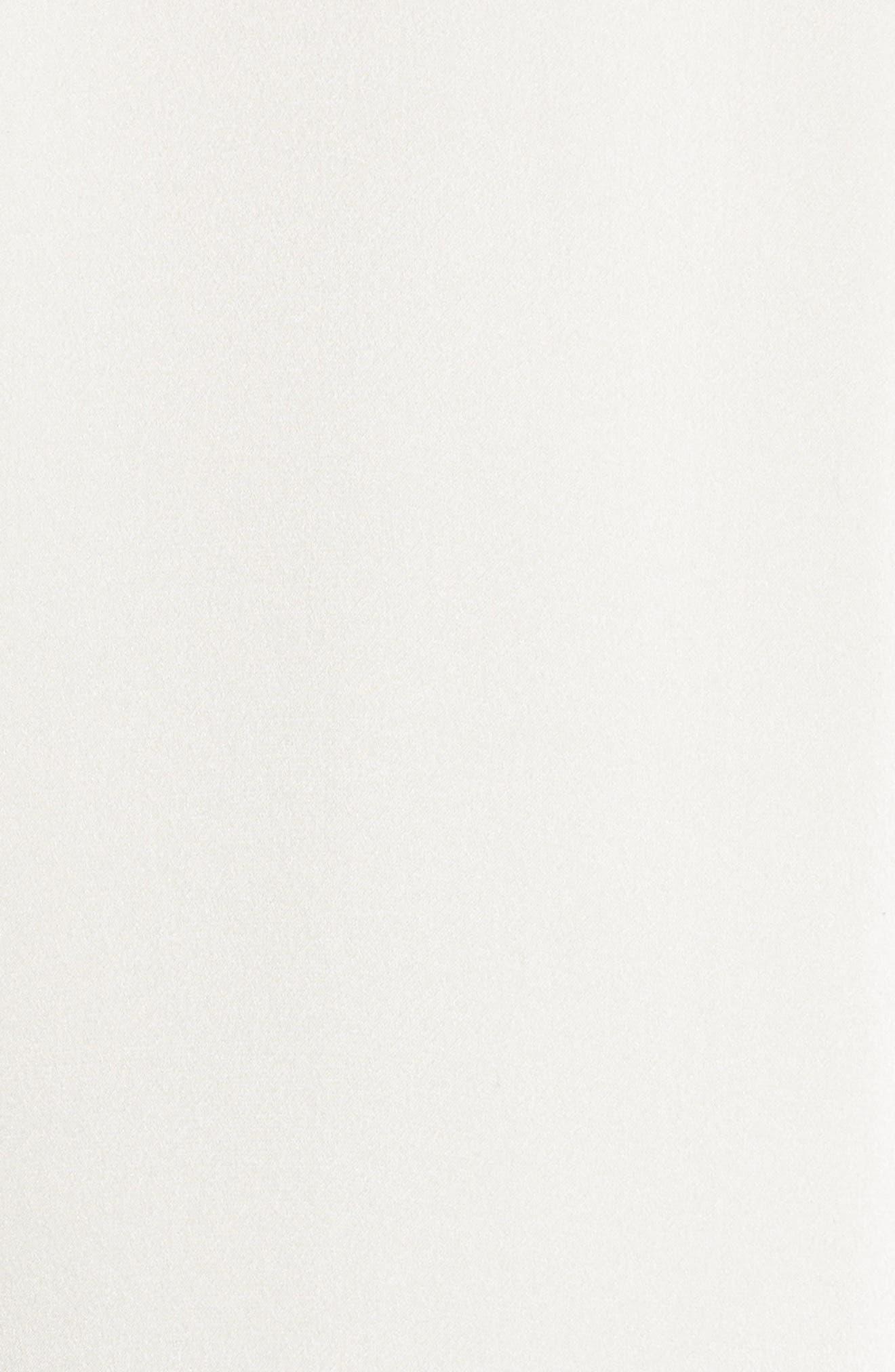 NILI LOTAN, Emmen Silk Shirt, Alternate thumbnail 5, color, IVORY