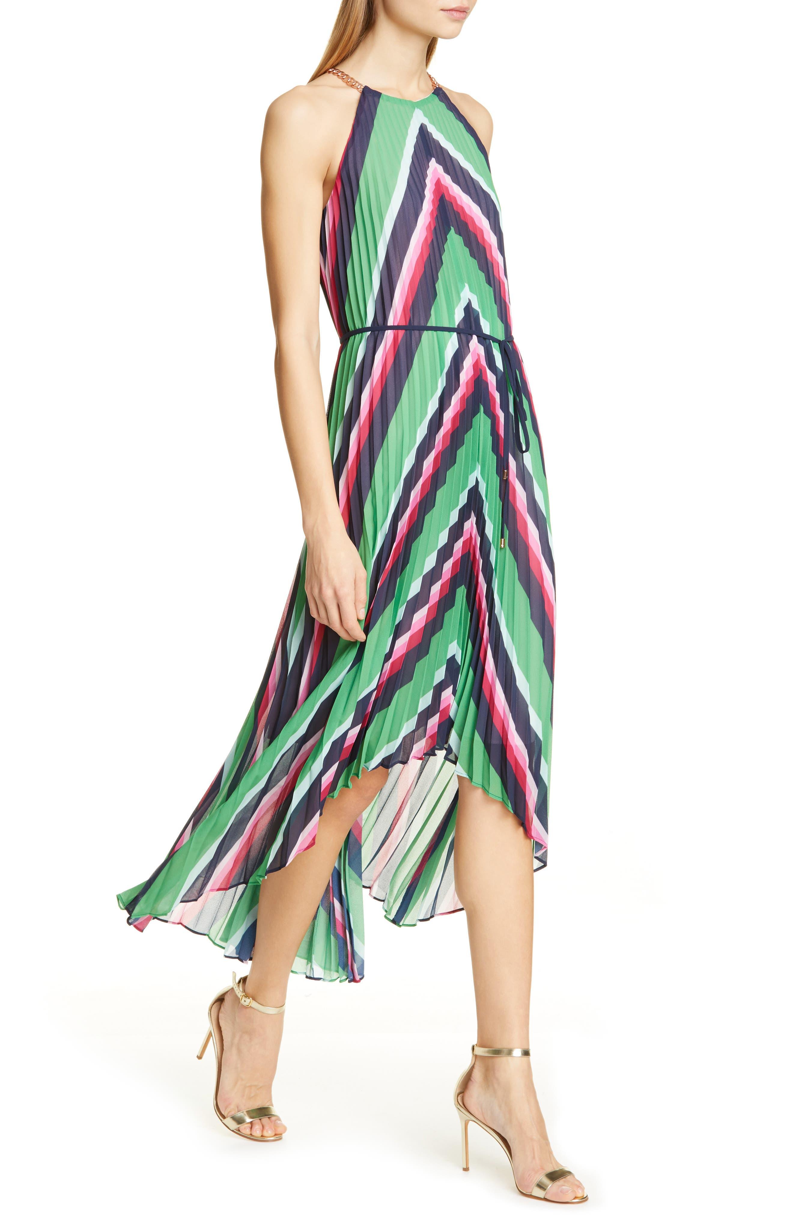 Ted Baker London Shannah Directional Stripe Dress, Blue