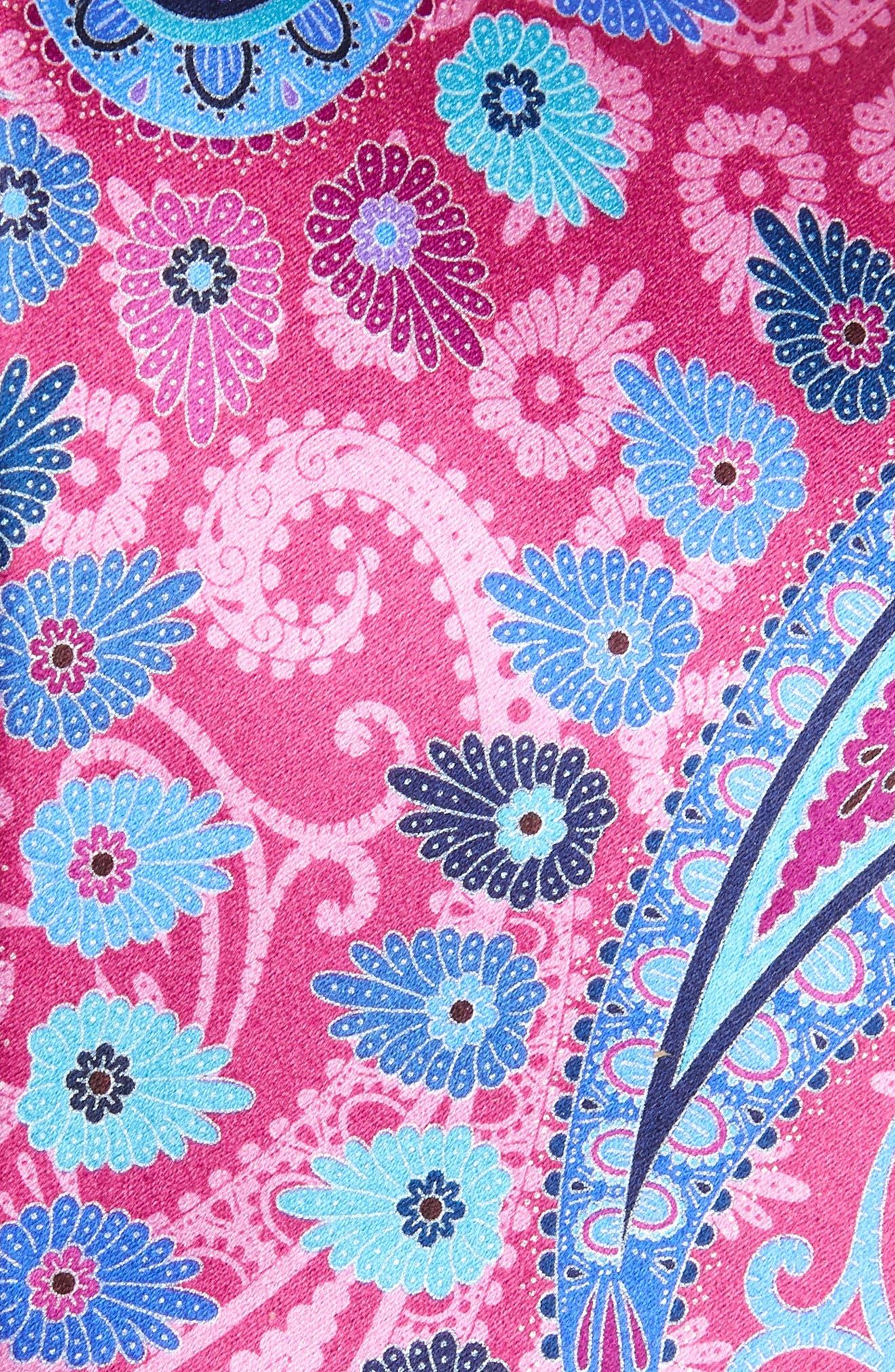 ERMENEGILDO ZEGNA, Quindici Paisley Silk Tie, Alternate thumbnail 2, color, PINK