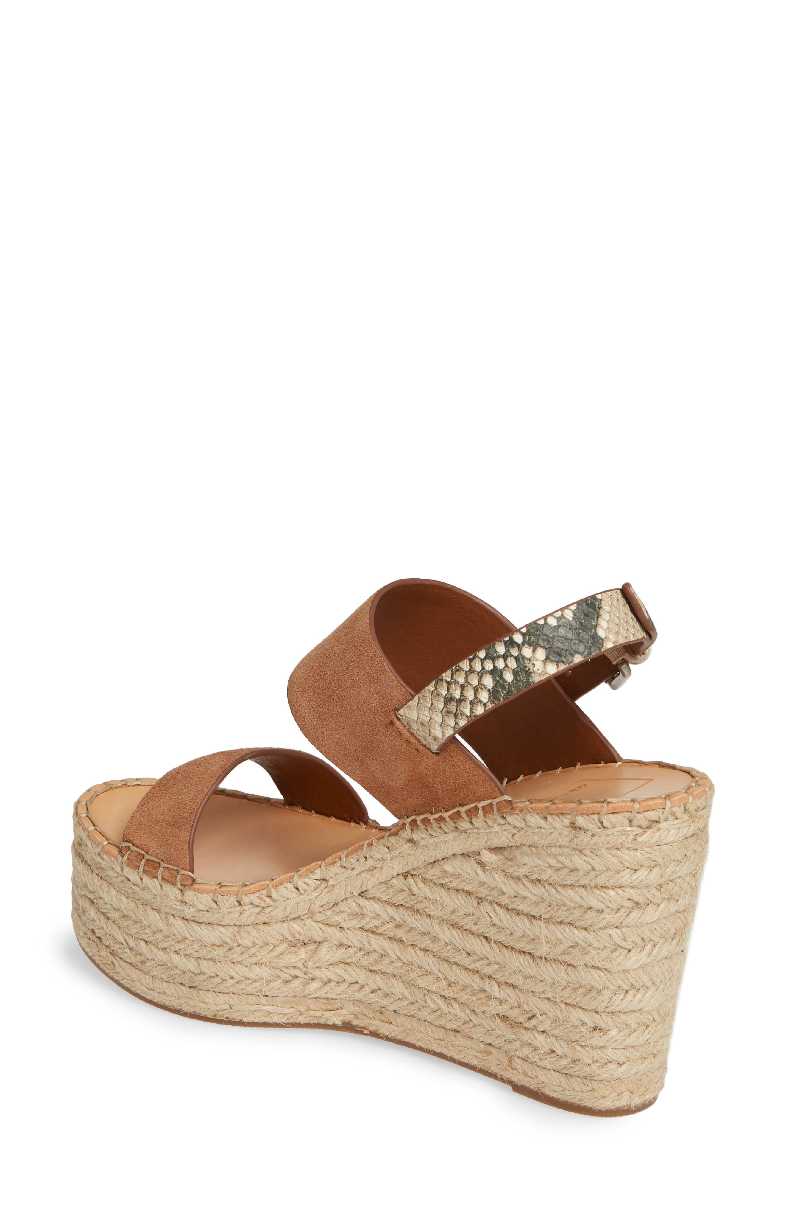 DOLCE VITA, Spiro Platform Wedge Sandal, Alternate thumbnail 2, color, BROWN SUEDE