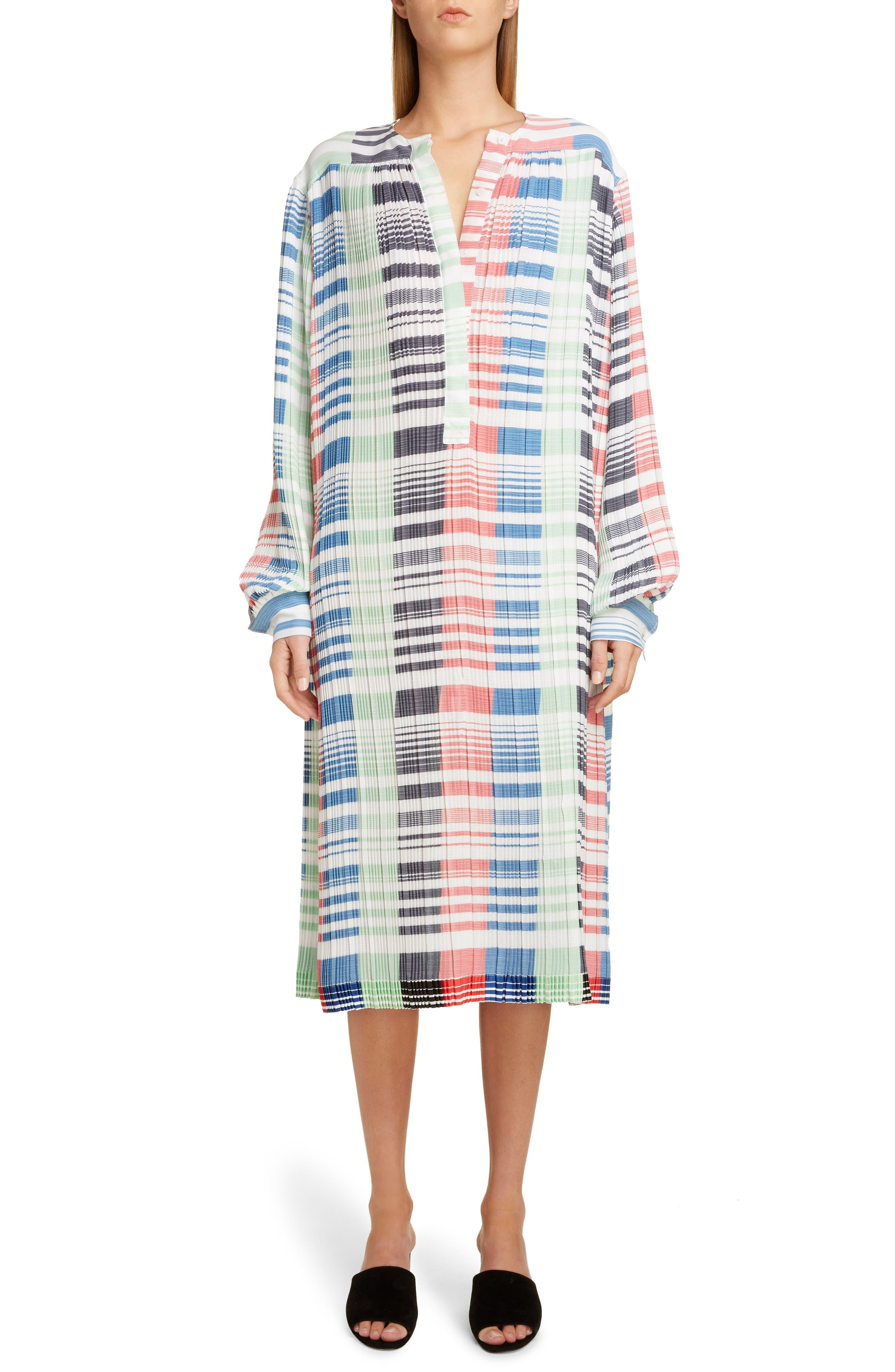 Jw Anderson Multicolor Mico Pleat Midi Dress, None