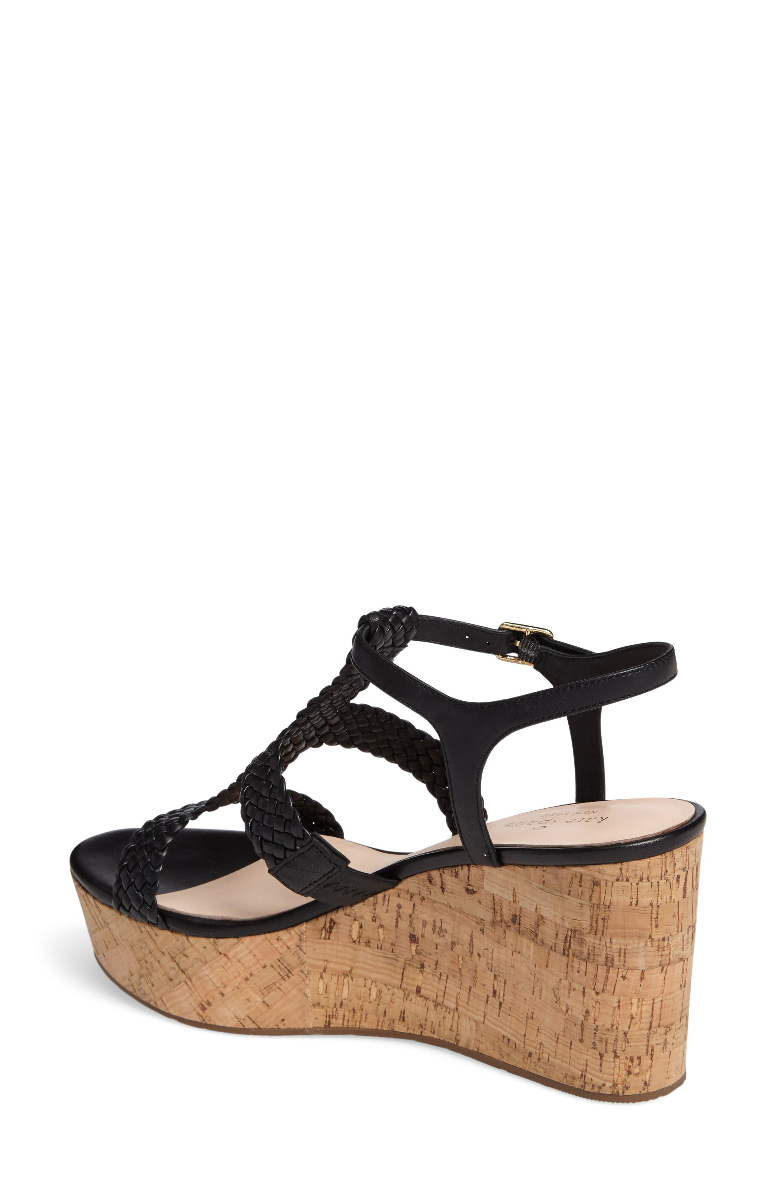 KATE SPADE NEW YORK, tianna platform sandal, Alternate thumbnail 2, color, 001