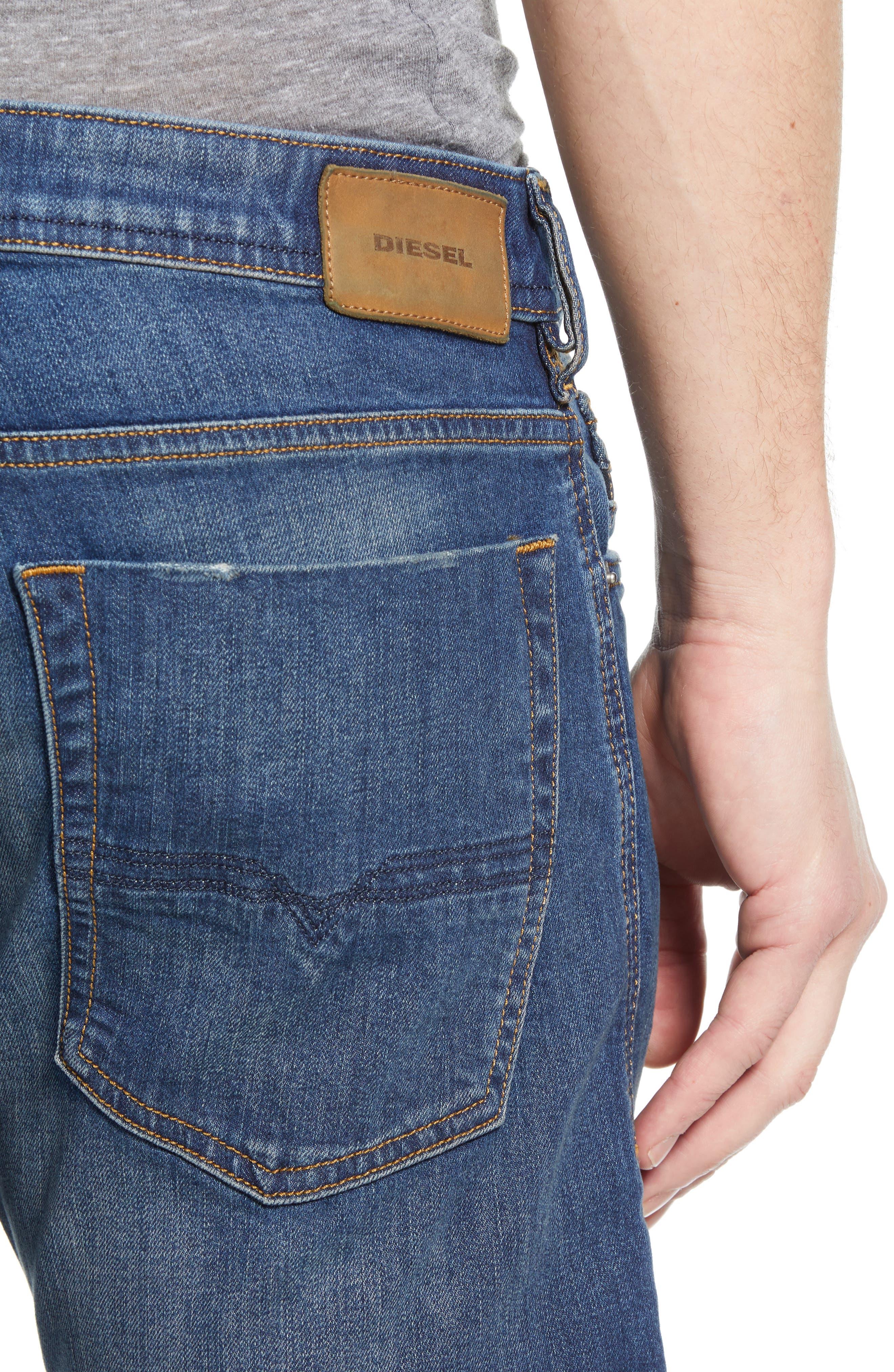 DIESEL<SUP>®</SUP>, Zatiny Bootcut Jeans, Alternate thumbnail 5, color, DENIM