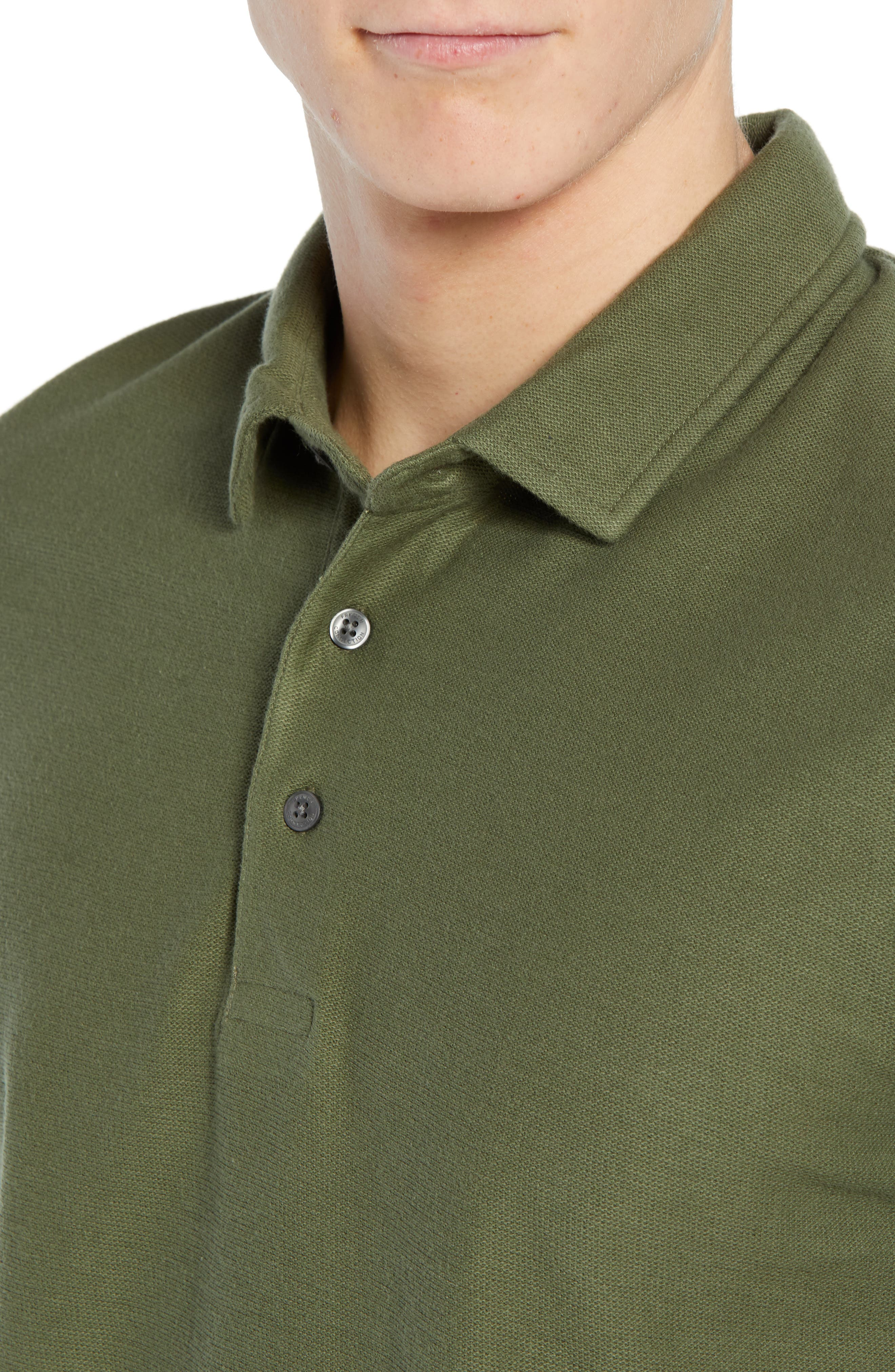 FRENCH CONNECTION, Solid Polo, Alternate thumbnail 4, color, 301