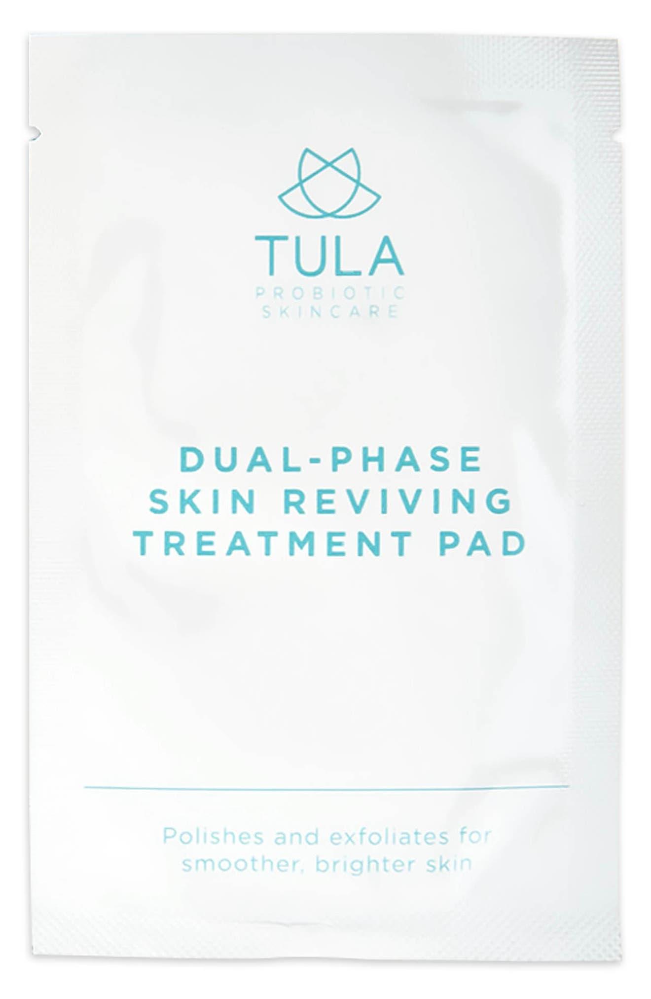 TULA PROBIOTIC SKINCARE, Dual Phase Skin Reviving Treatment Pads, Alternate thumbnail 2, color, NO COLOR