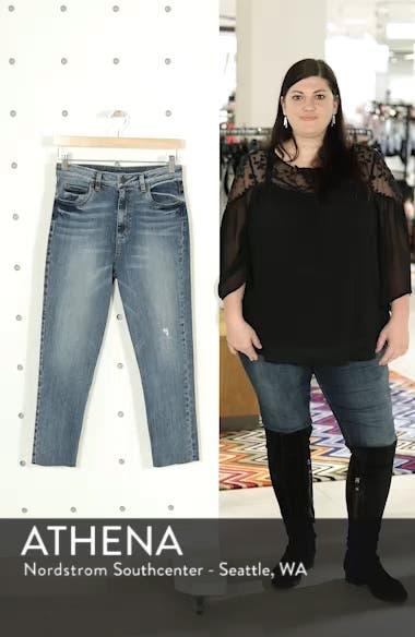 Alicia High Waist Crop Mom Jeans, sales video thumbnail