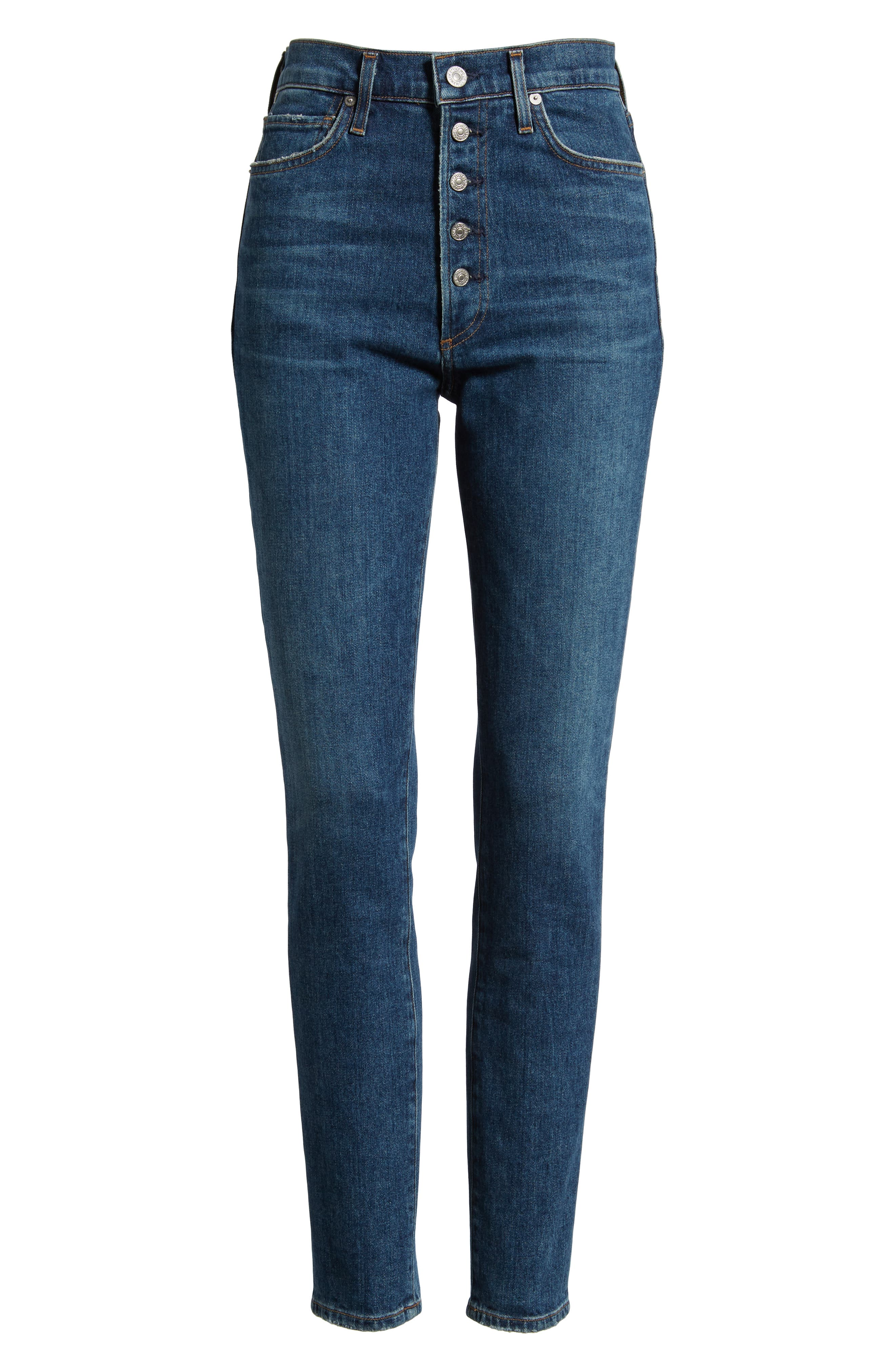 CITIZENS OF HUMANITY, Olivia High Waist Slim Jeans, Alternate thumbnail 7, color, CIRCA