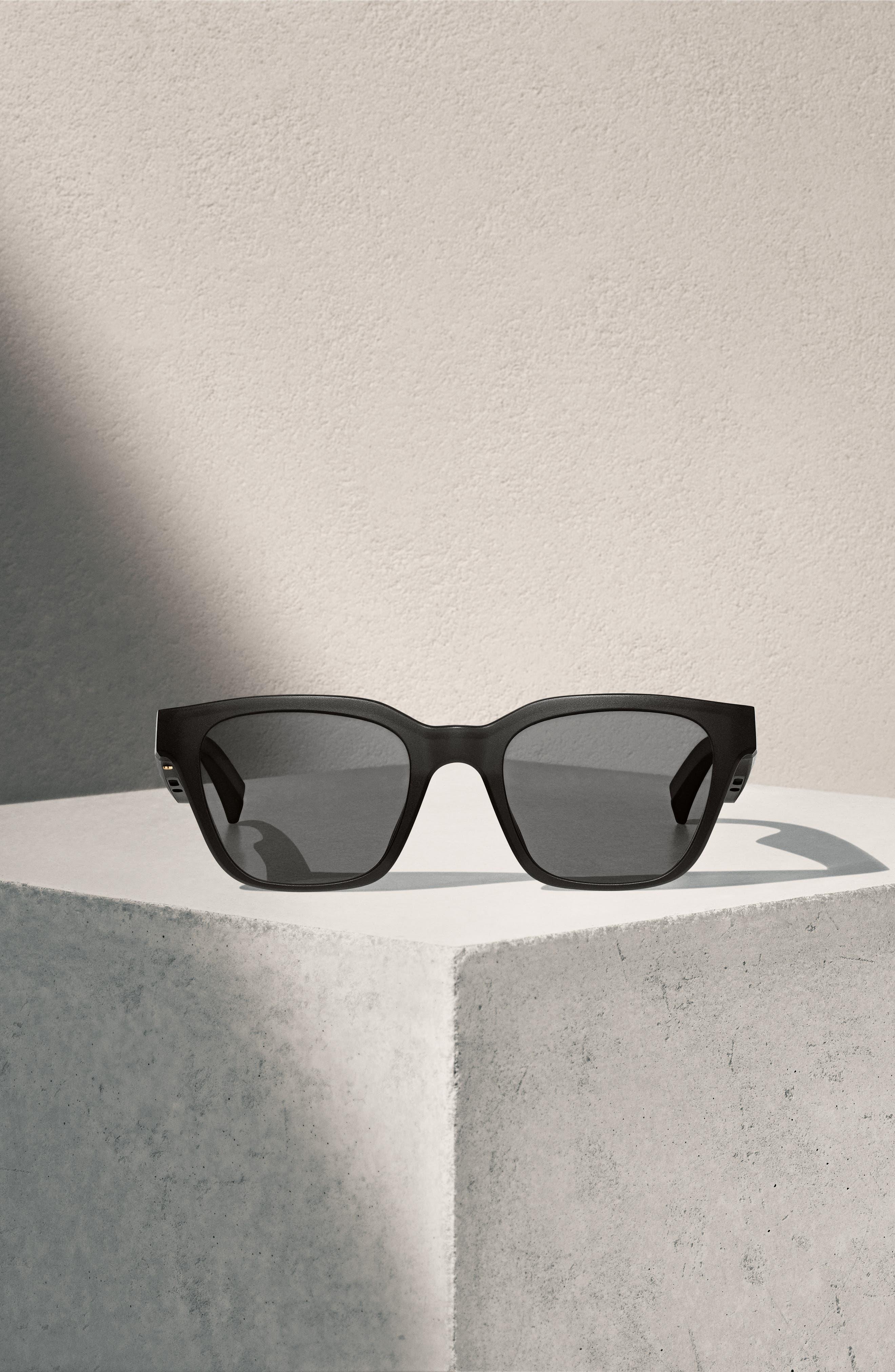 BOSE<SUP>®</SUP>, Frames Alto 52mm Audio Sunglasses, Alternate thumbnail 5, color, BLACK