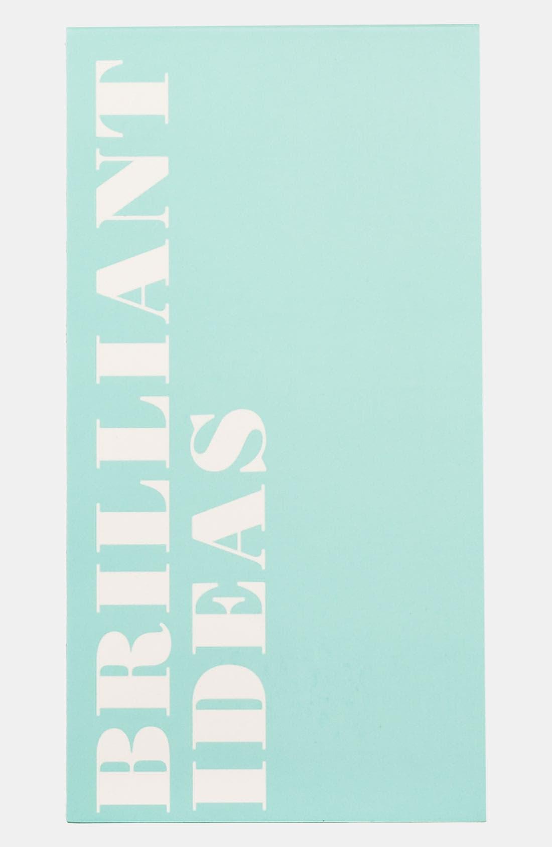 KATE SPADE NEW YORK, 'brilliant ideas' notepad, Main thumbnail 1, color, 960