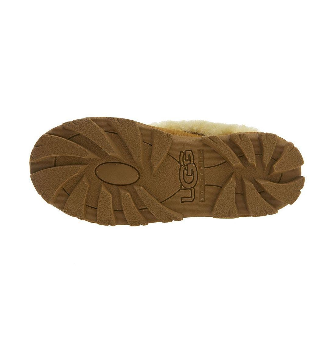UGG<SUP>®</SUP>, Genuine Shearling Slipper, Alternate thumbnail 8, color, CHESTNUT