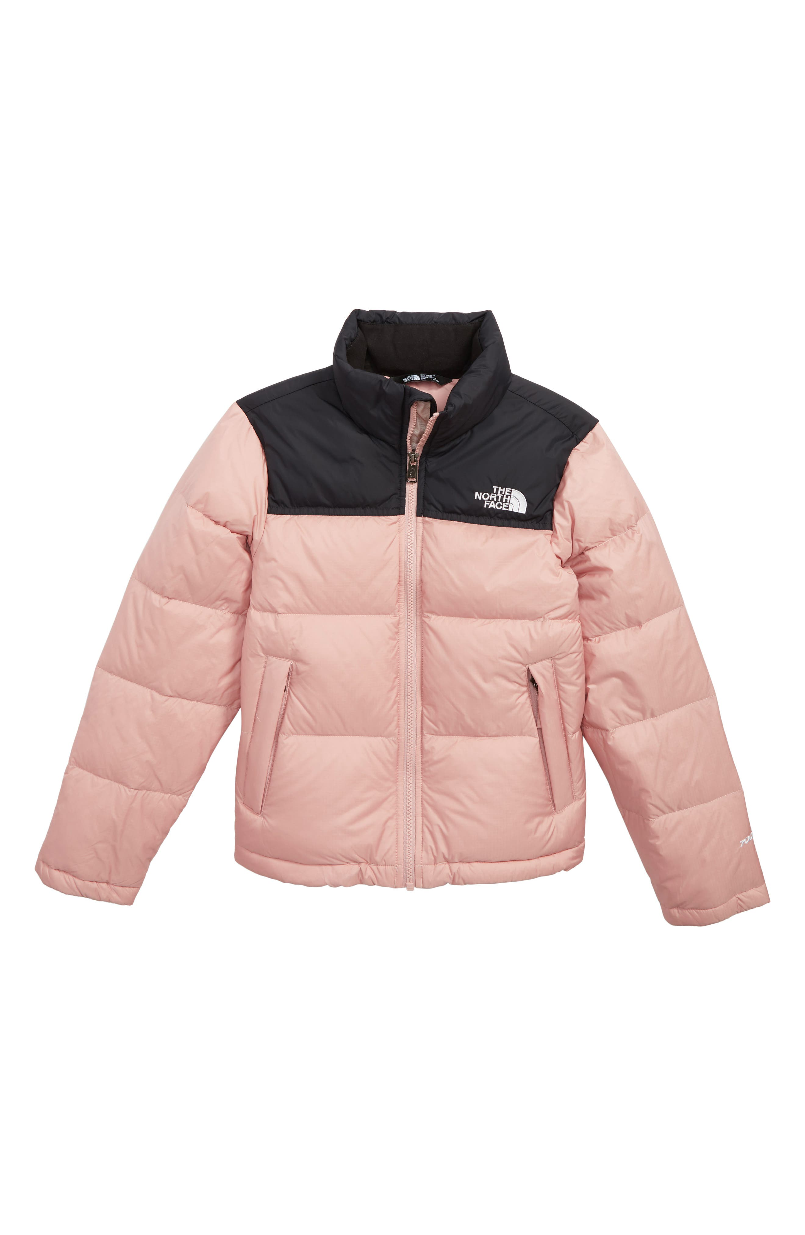 THE NORTH FACE, Nuptse 700 Fill Power Down Puffer Jacket, Main thumbnail 1, color, MISTY ROSE