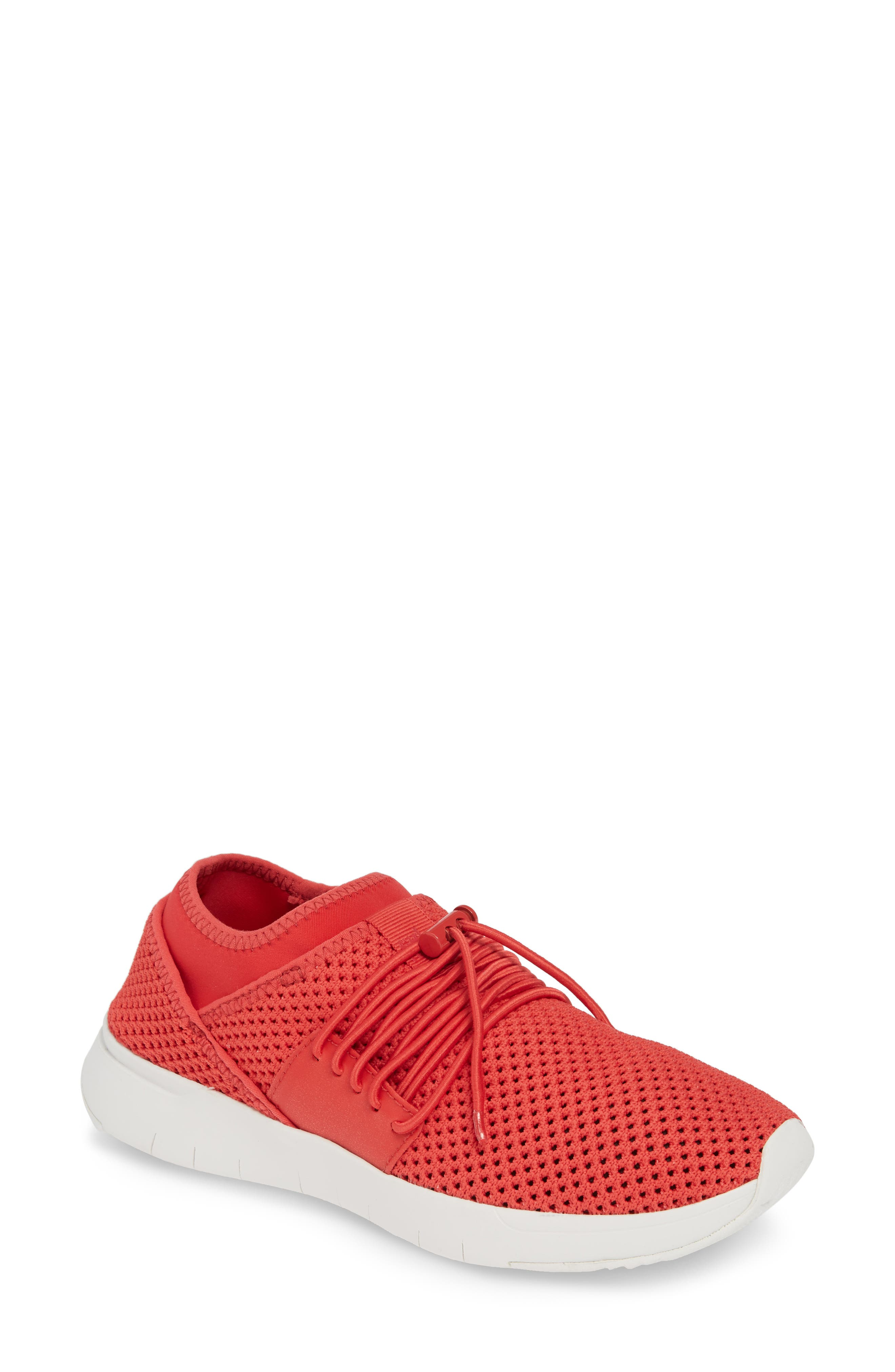 FITFLOP, Airmesh Sneaker, Main thumbnail 1, color, PASSION RED