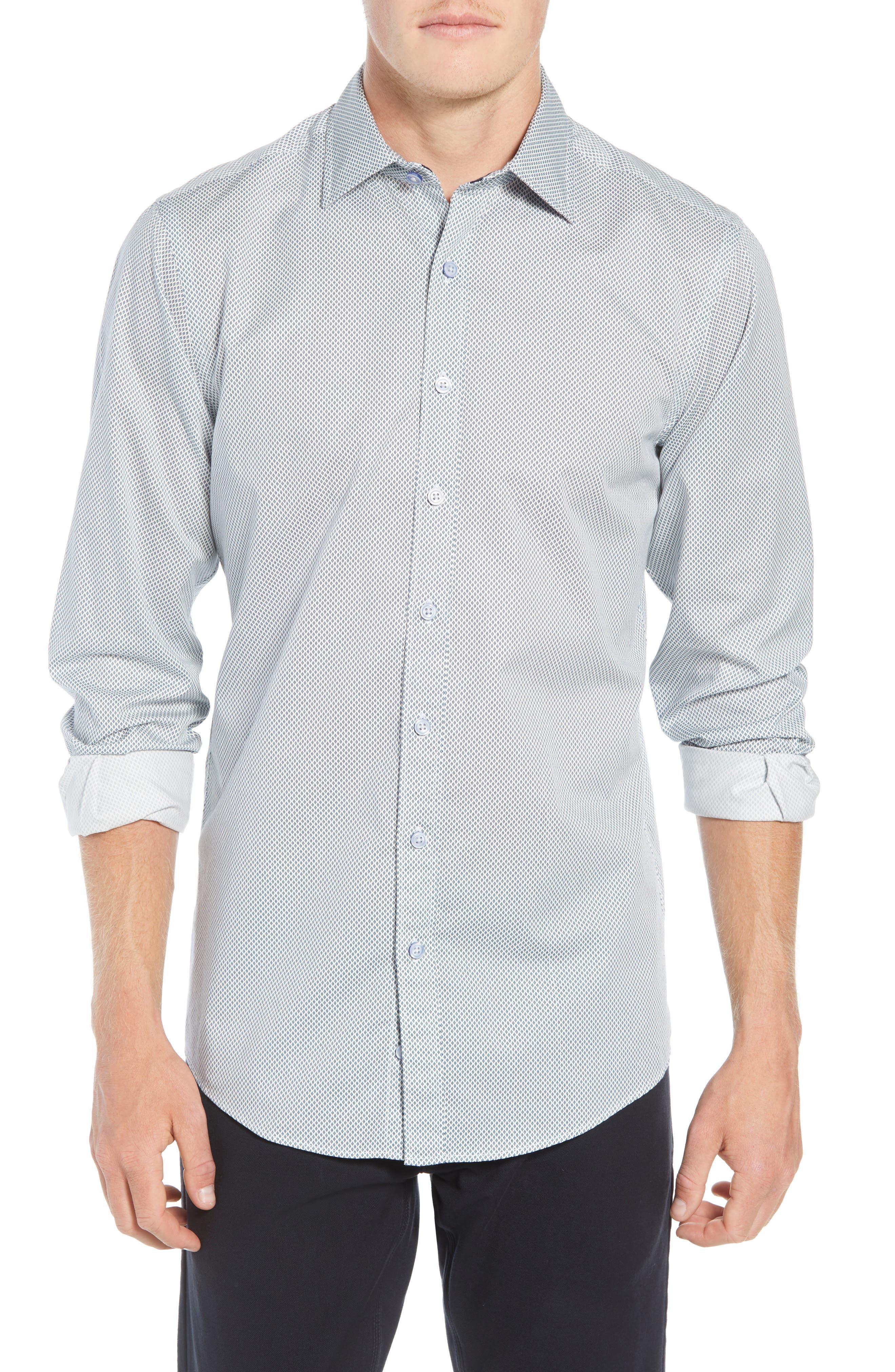 RODD & GUNN, Helston Way Regular Fit Sport Shirt, Main thumbnail 1, color, SNOW