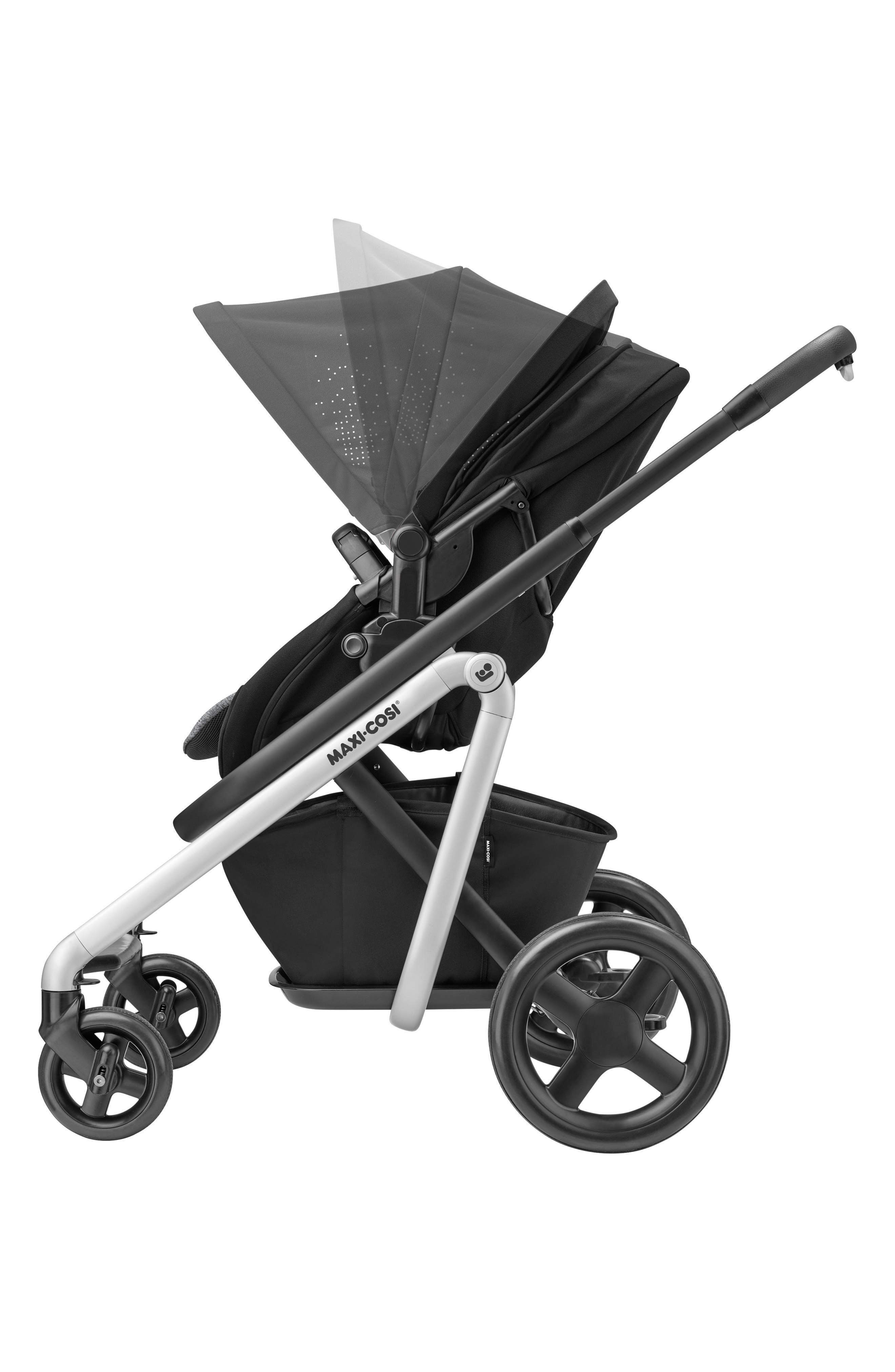 MAXI-COSI<SUP>®</SUP>, Lila Modular Stroller, Alternate thumbnail 12, color, NOMAD BLACK