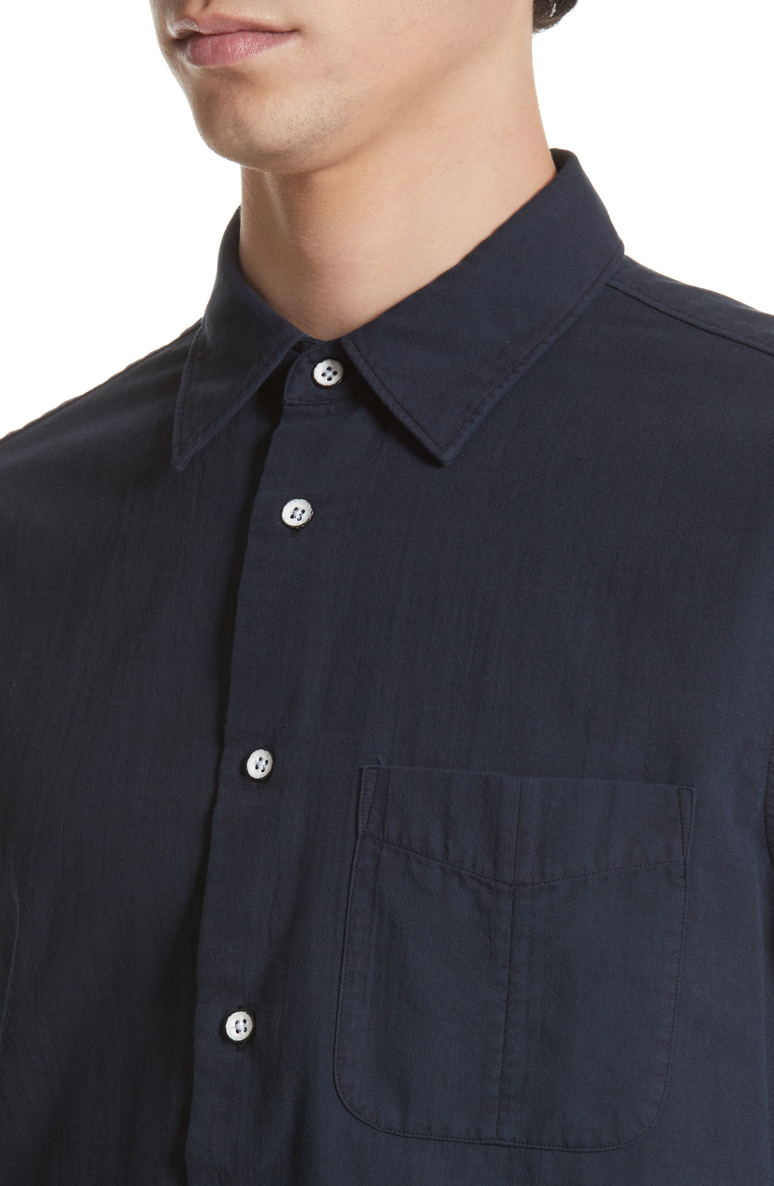 RAG & BONE, Standard Issue Solid Sport Shirt, Alternate thumbnail 5, color, 410