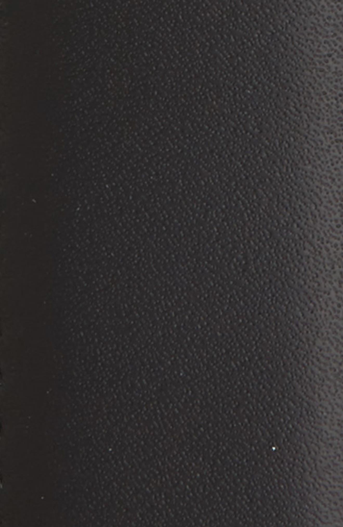 MONTBLANC, Square Buckle Reversible Leather Belt, Alternate thumbnail 3, color, BLACK/ BROWN