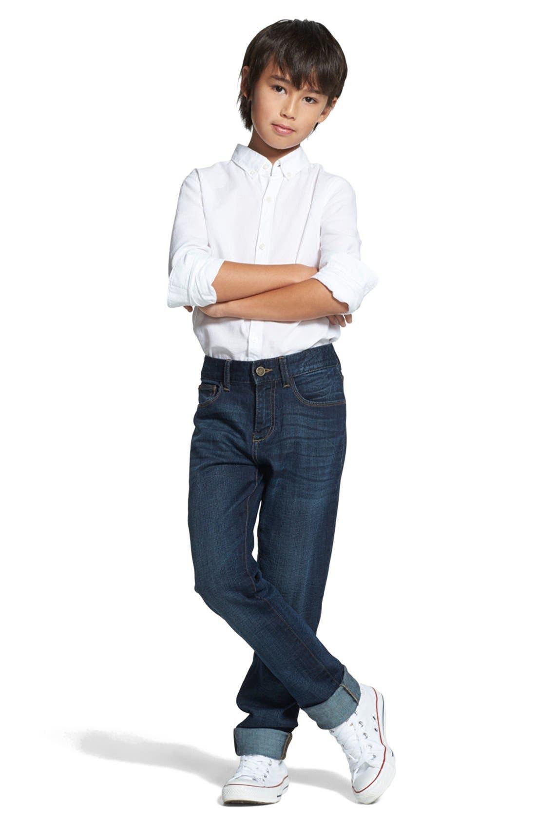 DL1961, 'Brady' Slim Fit Jeans, Alternate thumbnail 4, color, FERRET