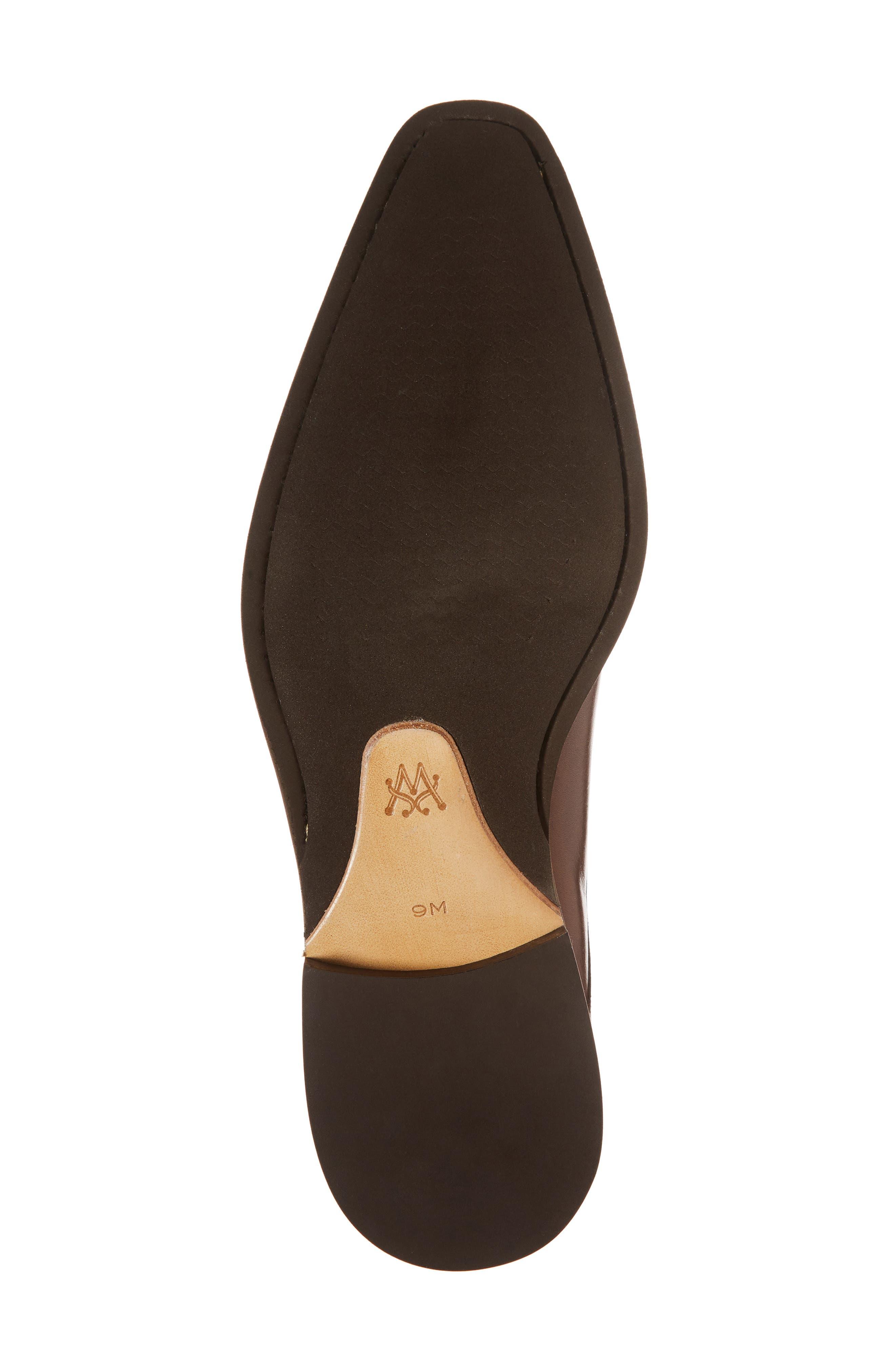 MEZLAN, Feresta Wingtip Monk Shoe, Alternate thumbnail 6, color, COGNAC