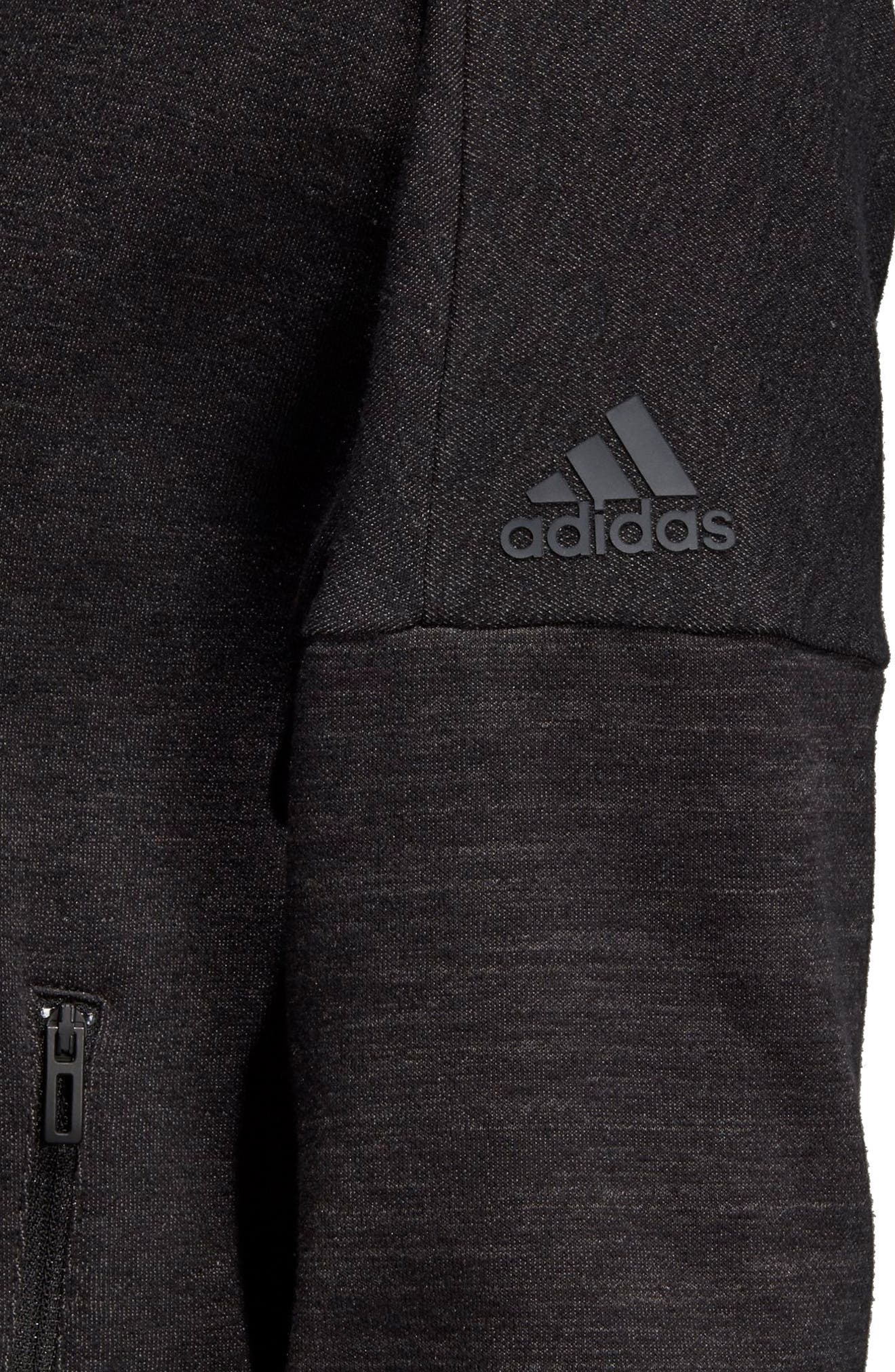 ADIDAS, Heatracer Jacket, Alternate thumbnail 8, color, BLACK/ GREY FIVE