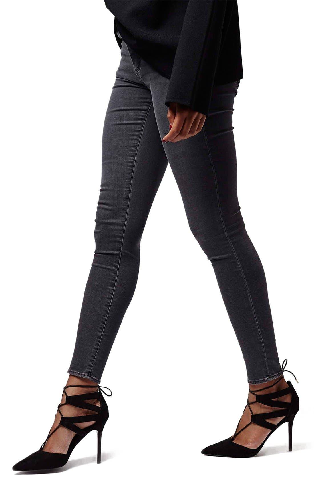 TOPSHOP, Moto 'Jamie' Skinny Jeans, Main thumbnail 1, color, 020
