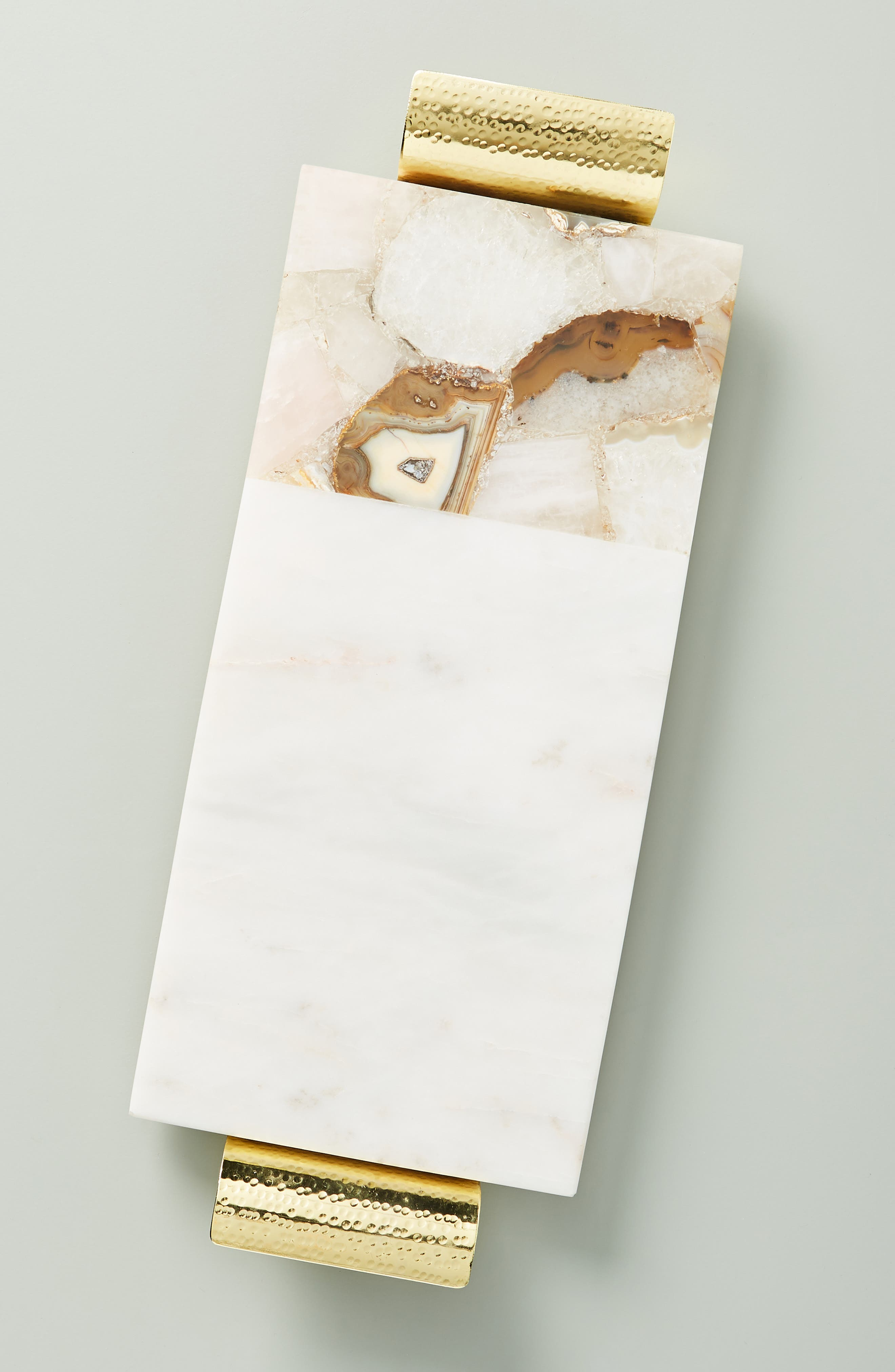 ANTHROPOLOGIE, Morgan Agate & Marble Cheese Board, Main thumbnail 1, color, WHITE