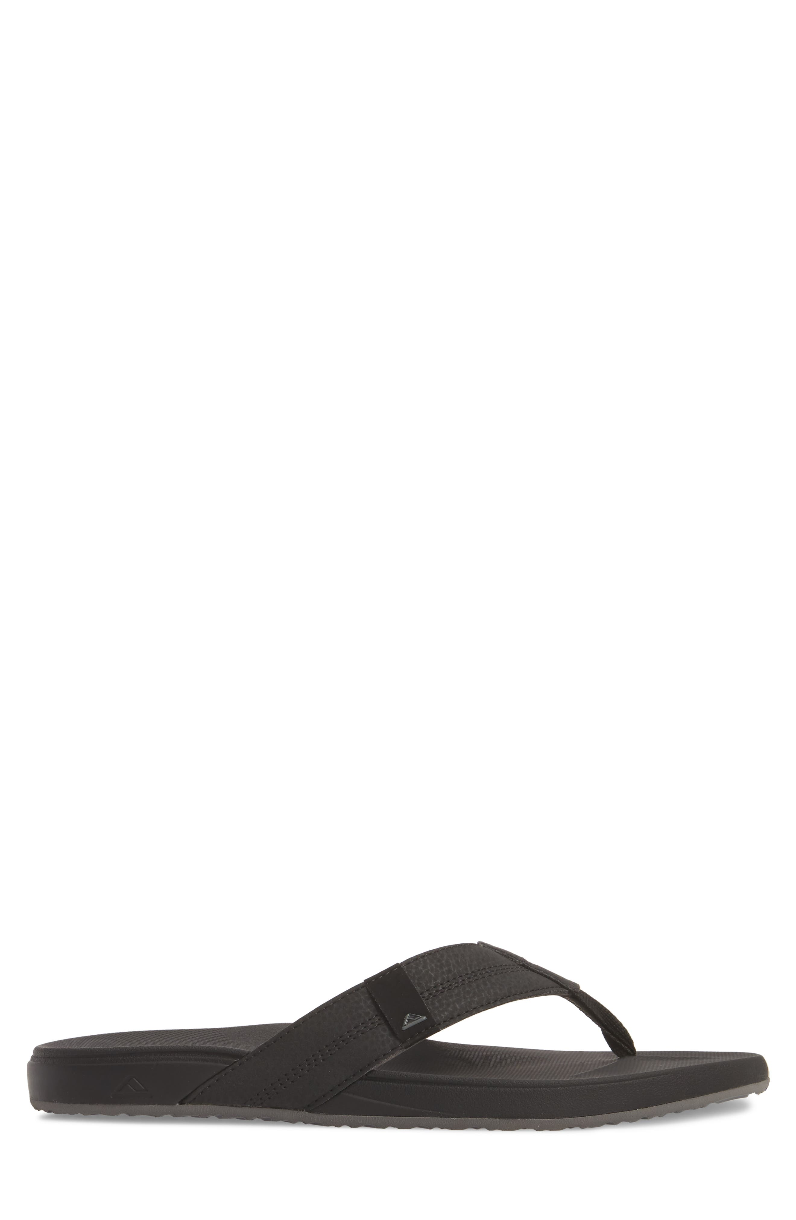 REEF, Cushion Bounce Phantom Flip Flop, Alternate thumbnail 3, color, BLACK