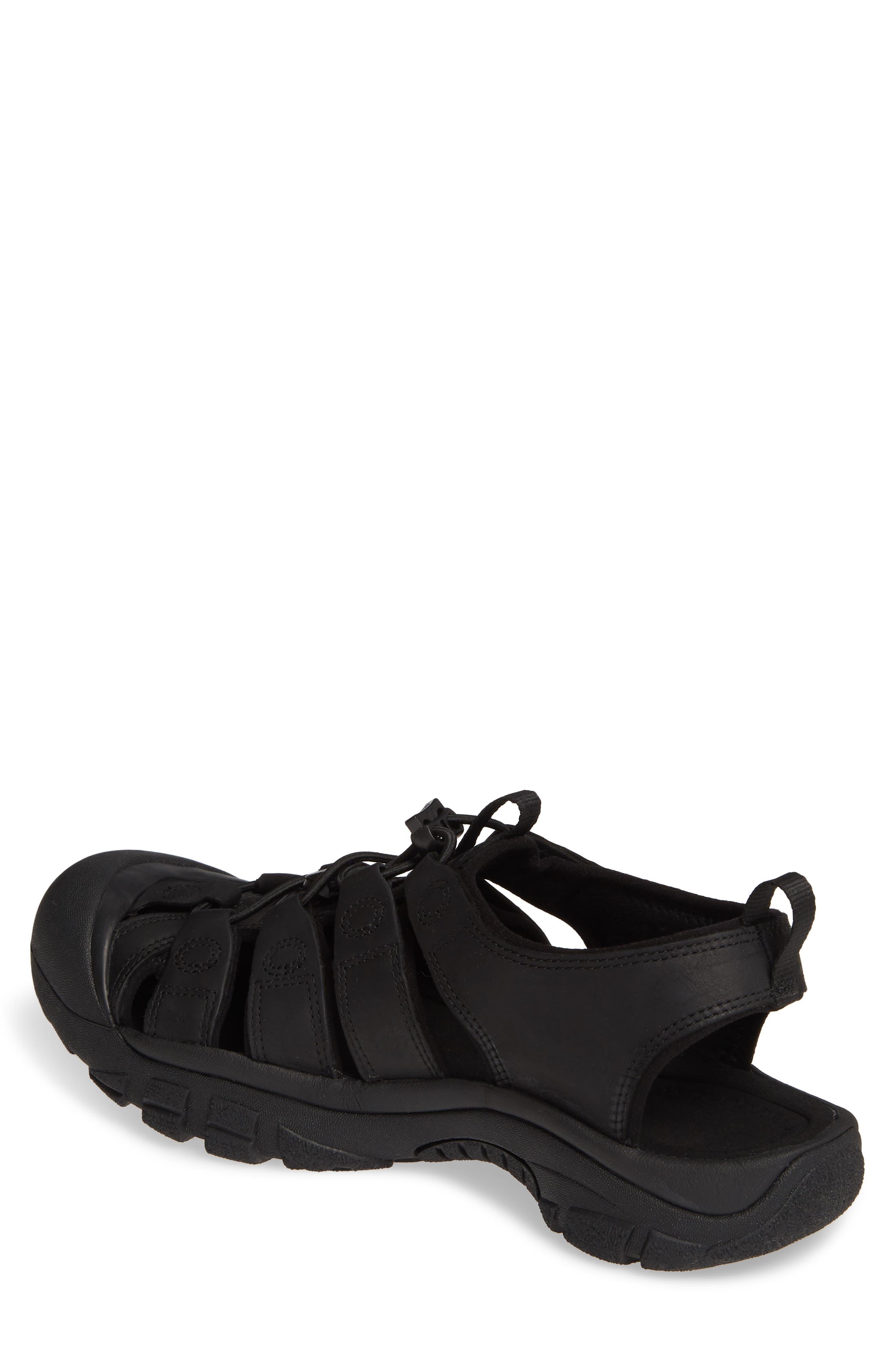 KEEN, 'Newport' Sandal, Alternate thumbnail 2, color, BLACK/ BLACK